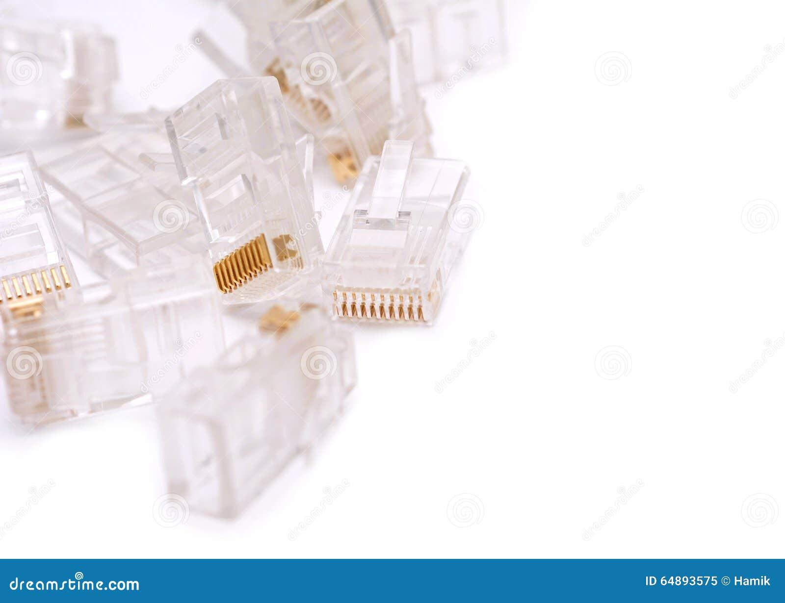 安装连接器的RJ45