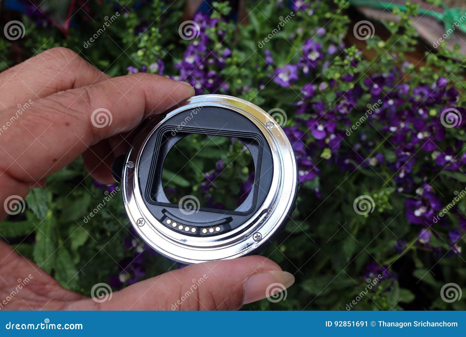 宏指令的透镜适配器与花