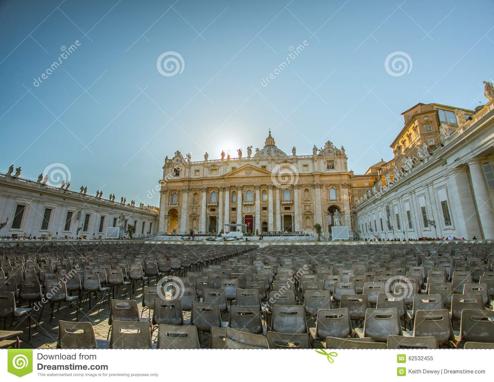 宗教家庭的圣彼得广场和大教堂,梵蒂冈,罗马,意大利