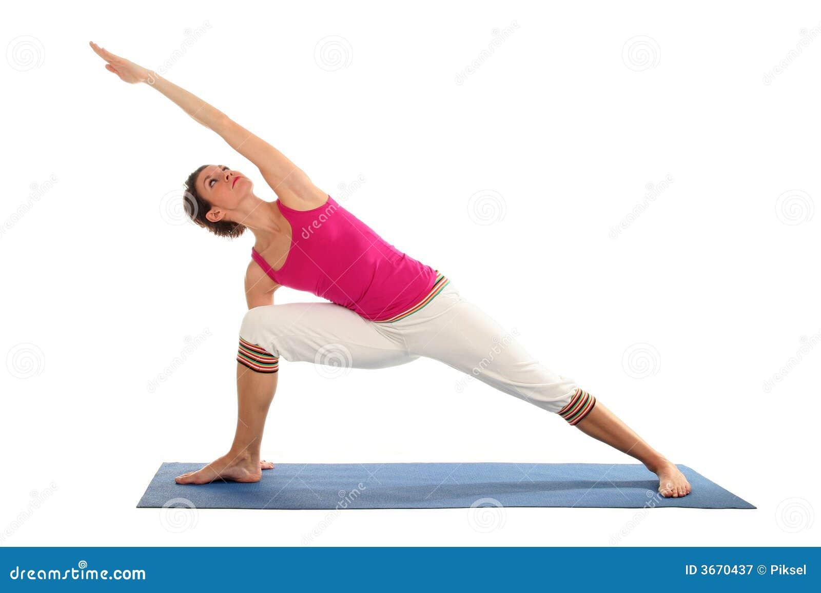 实践的女子瑜伽