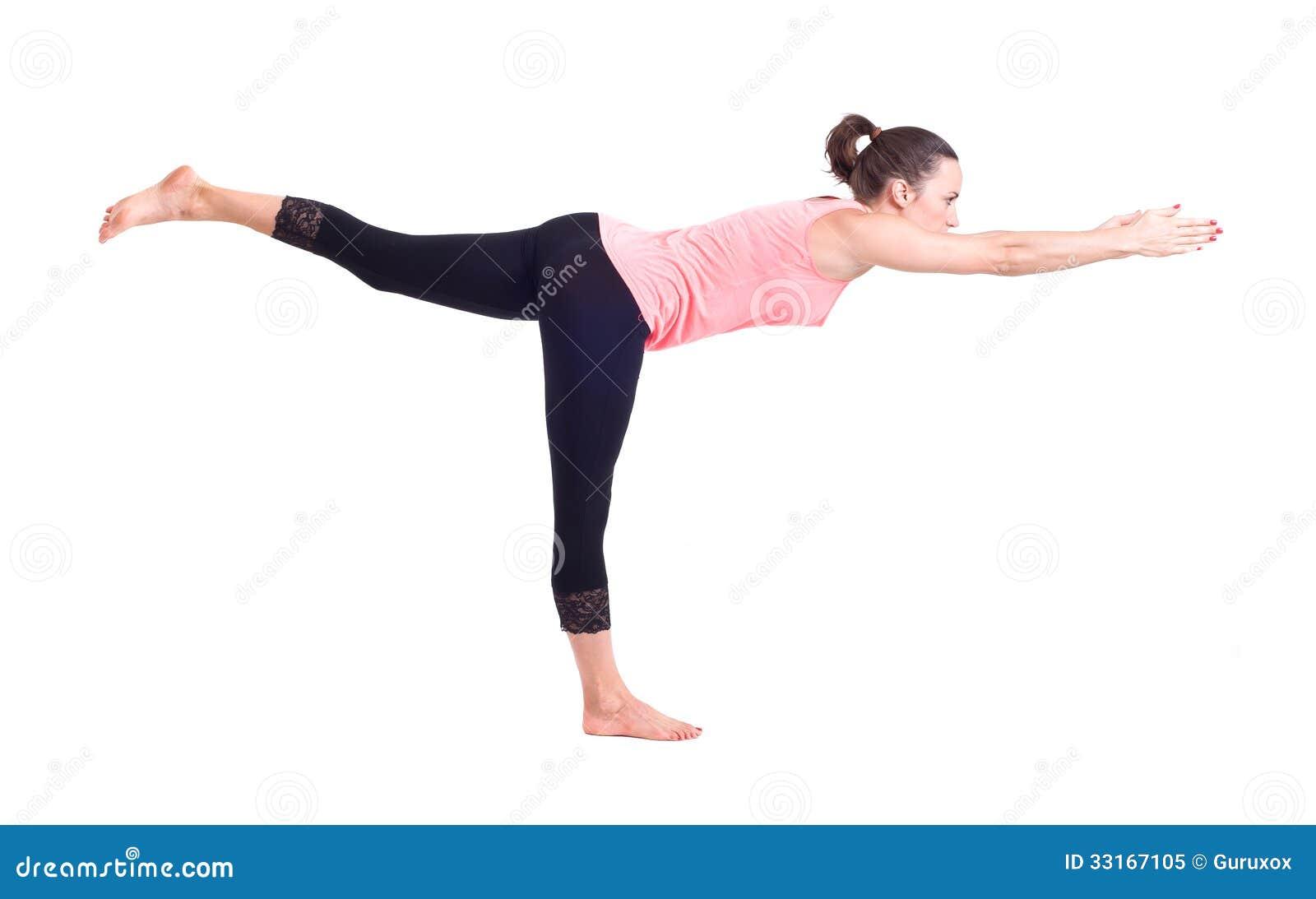 实践的瑜伽锻炼:战士姿势- virabhadrasana