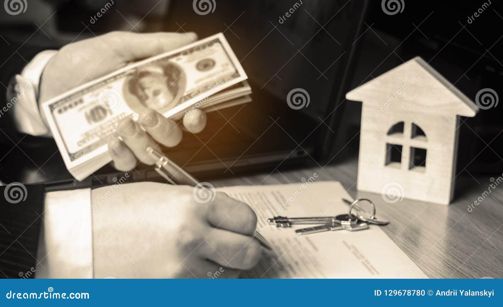 实际概念的庄园 买卖家 租公寓 物产销售  税的抵押和付款 债务和贷款 Pur