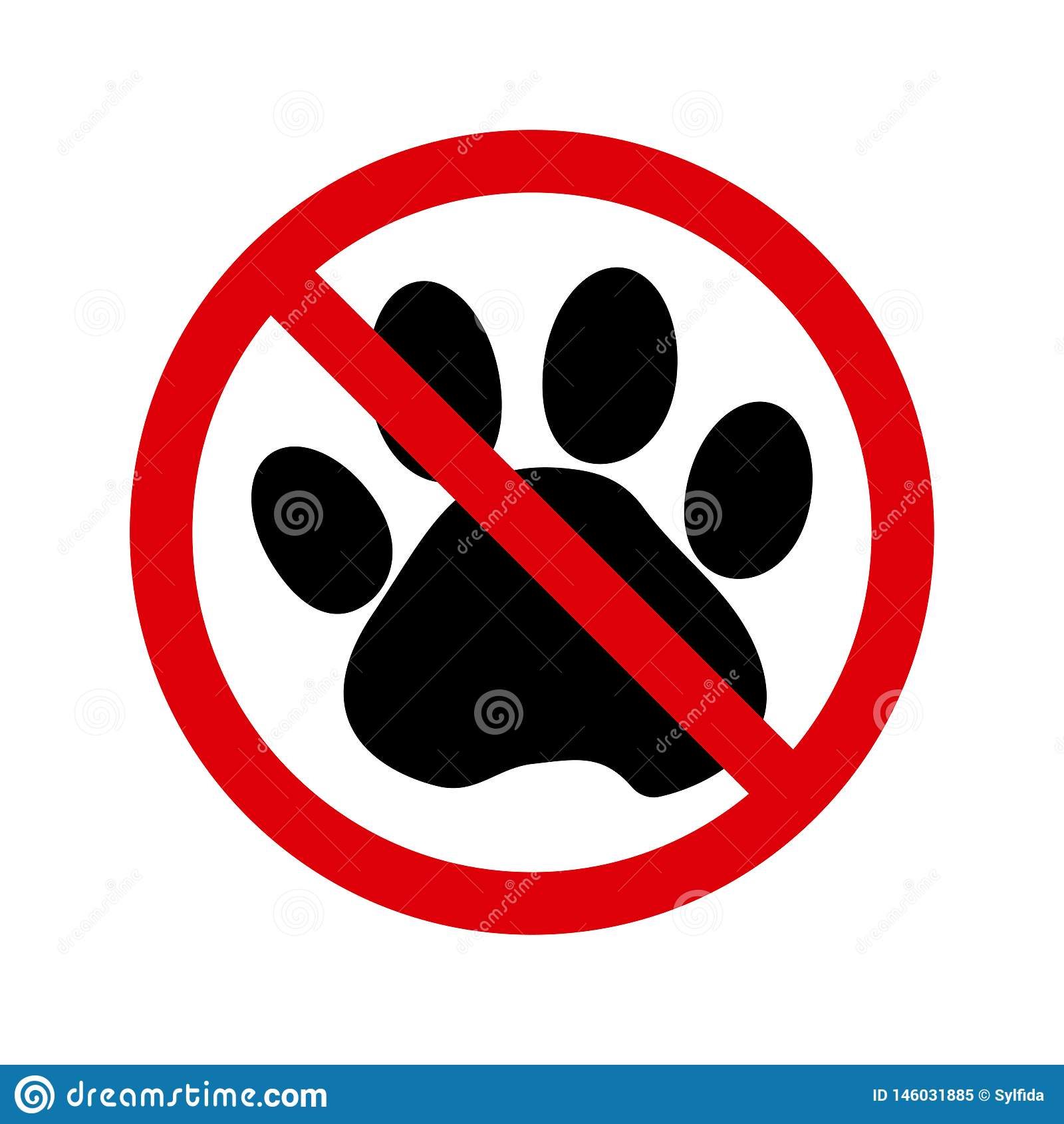 宠物不允许标志 ??
