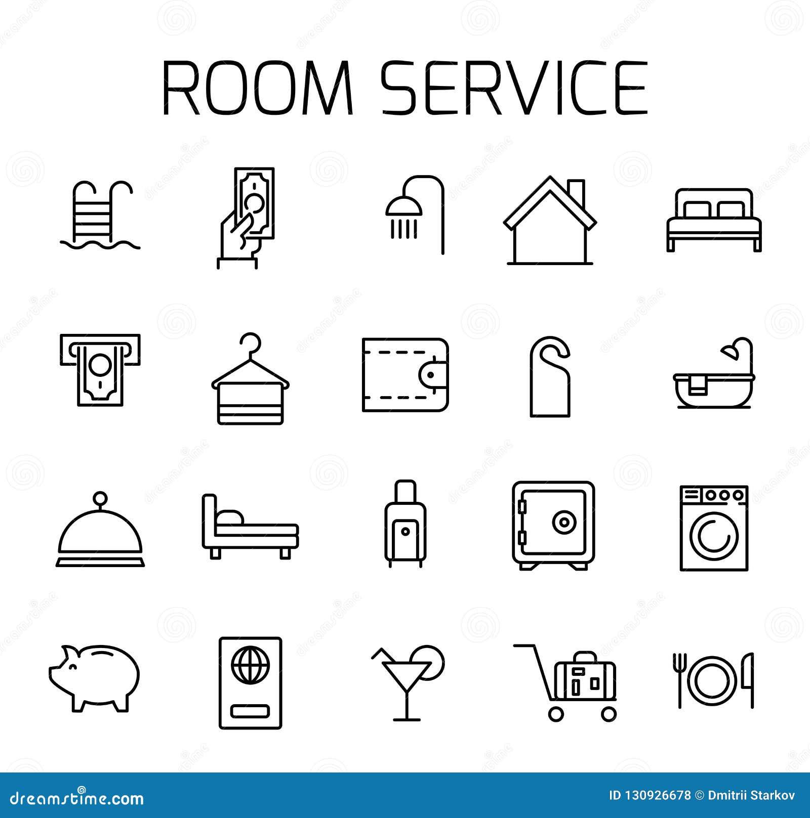 客房服务关系了传染媒介象集合