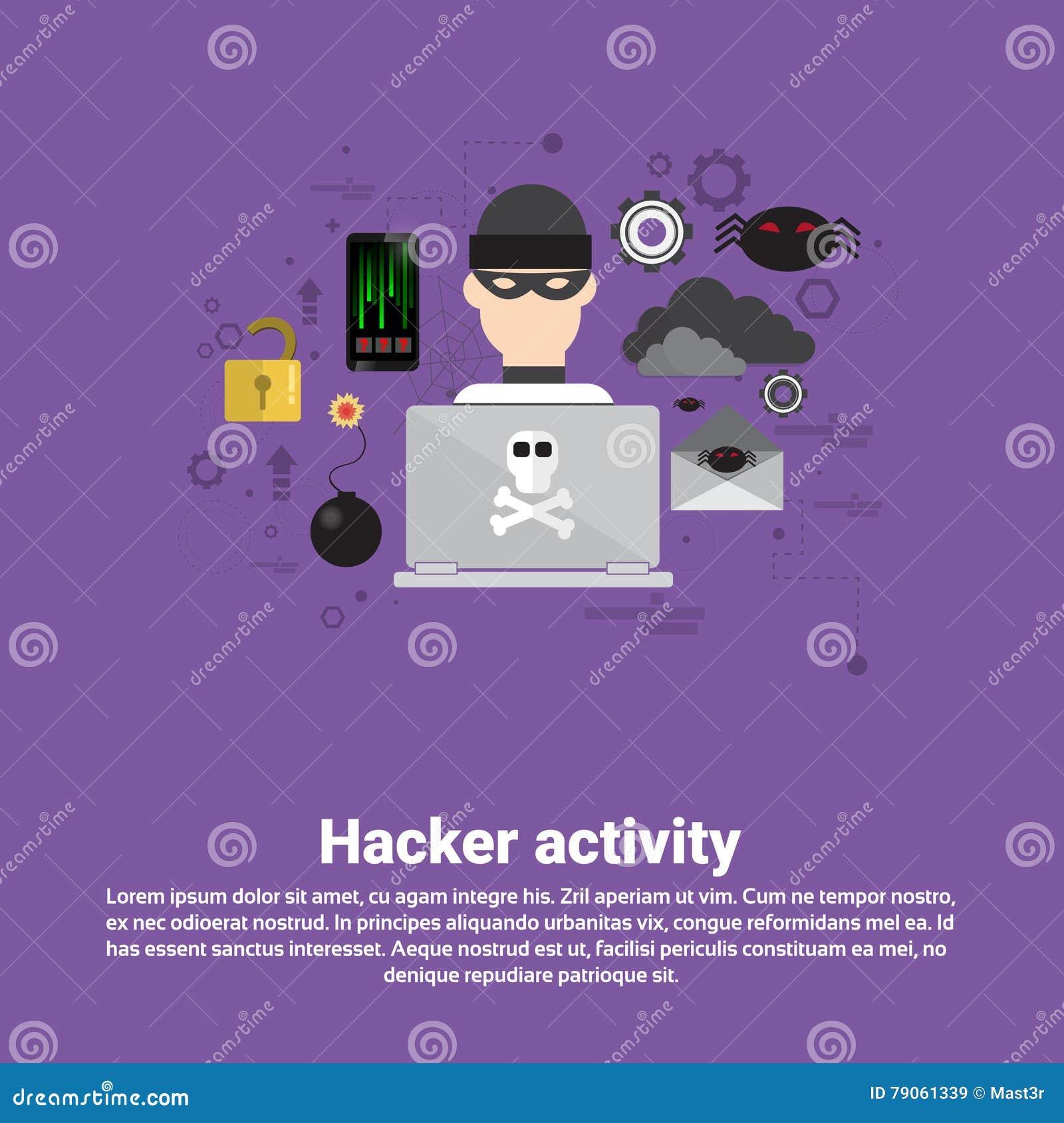 黑客活动数据保护保密性互联网信息安全网横幅