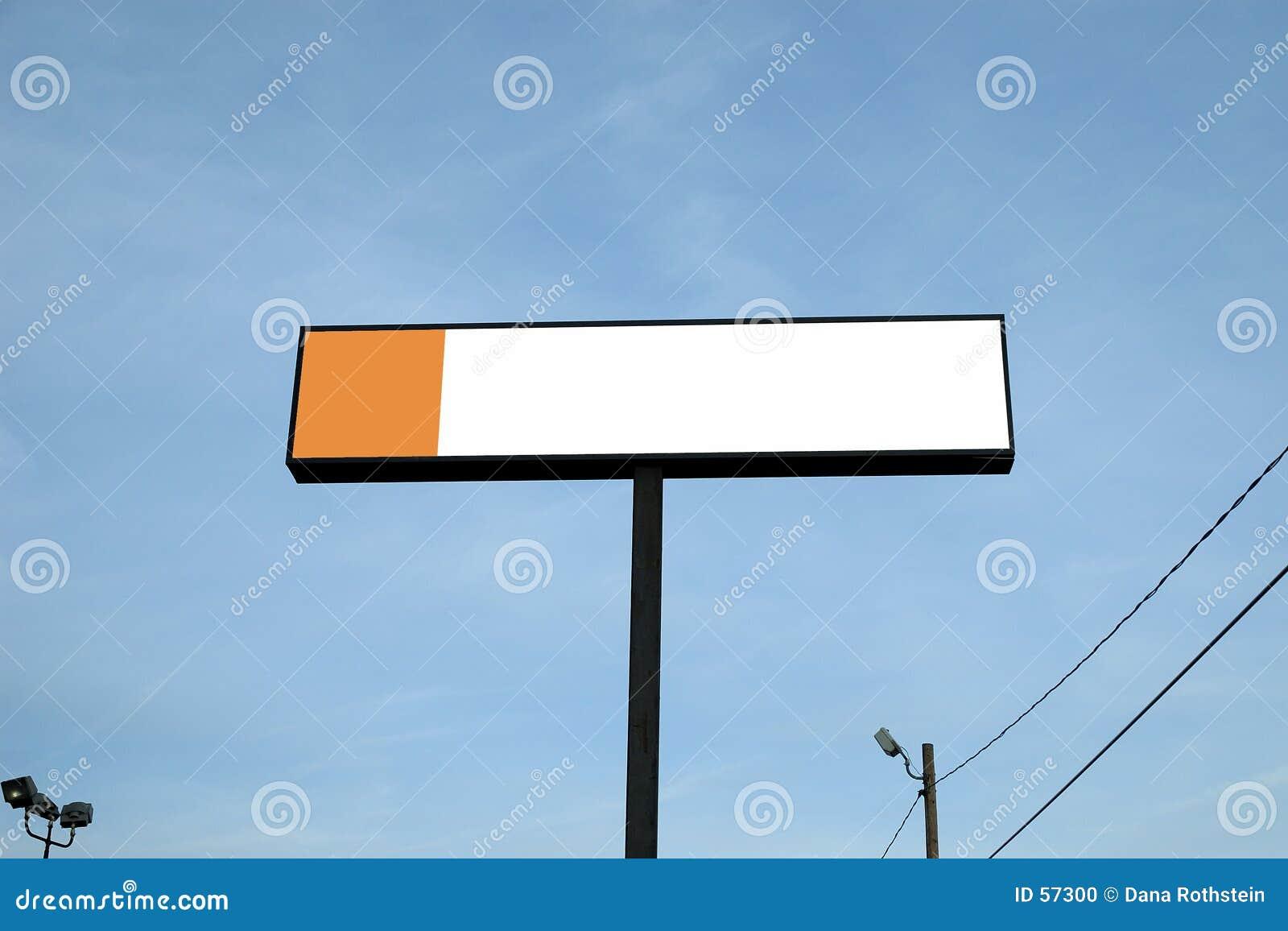 室外的广告牌