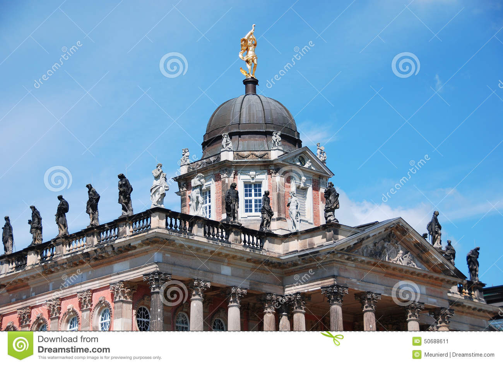Download 宫殿在Sanssouci公园 库存图片. 图片 包括有 观光, 皇家, 公园, 风景, 遗产, 巨大, bulblet - 50688611