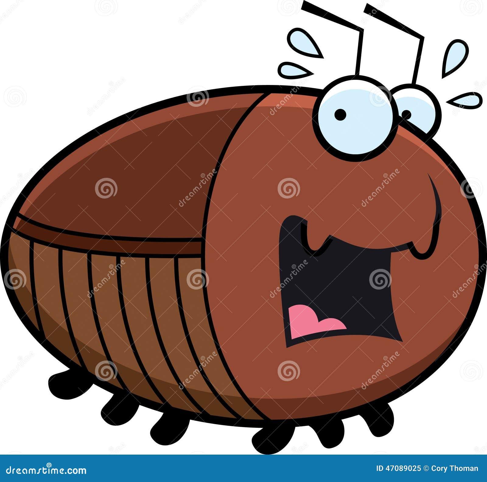 看起来的蟑螂的动画片例证惊吓.图片