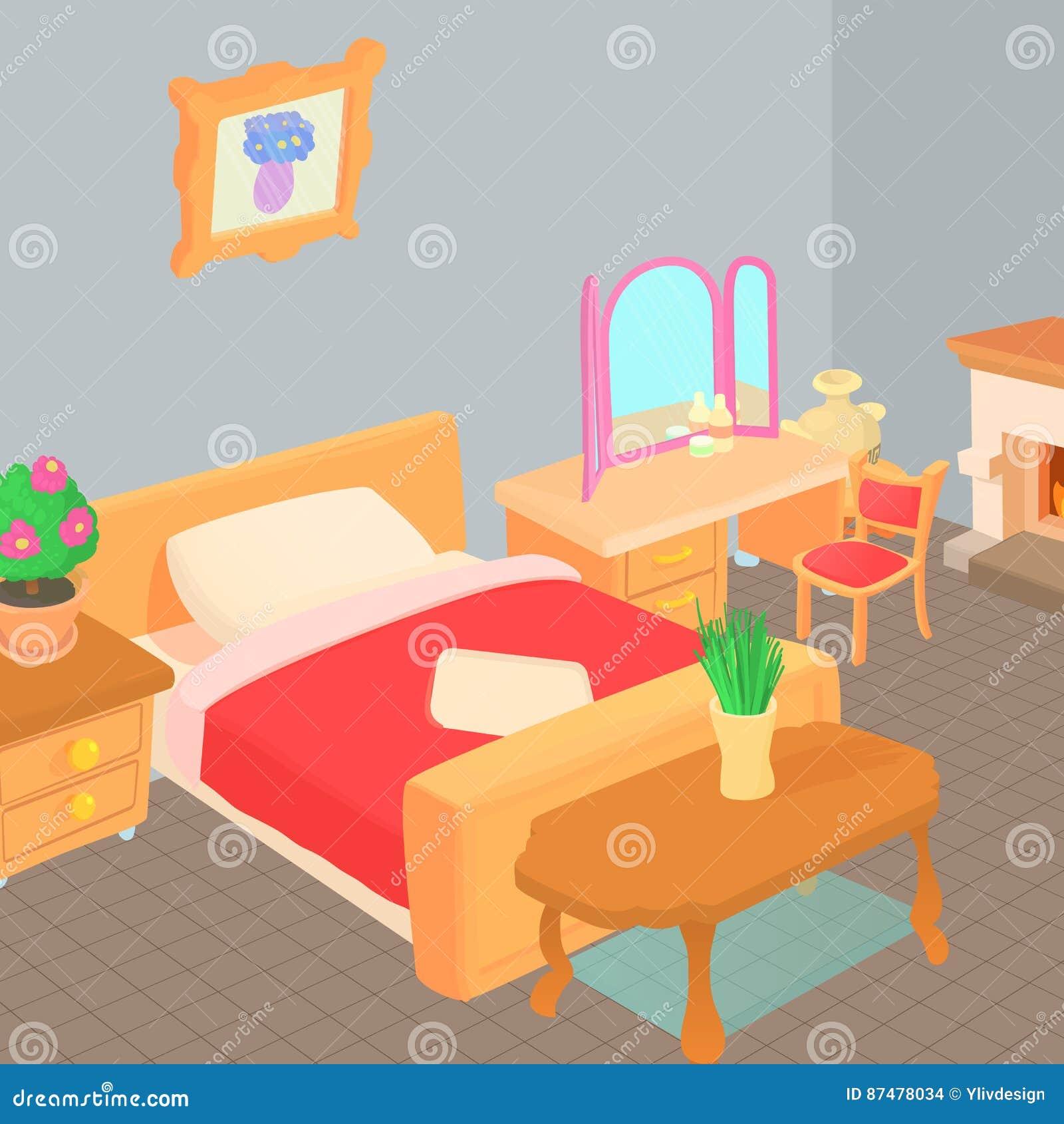 家具概念,动画片样式