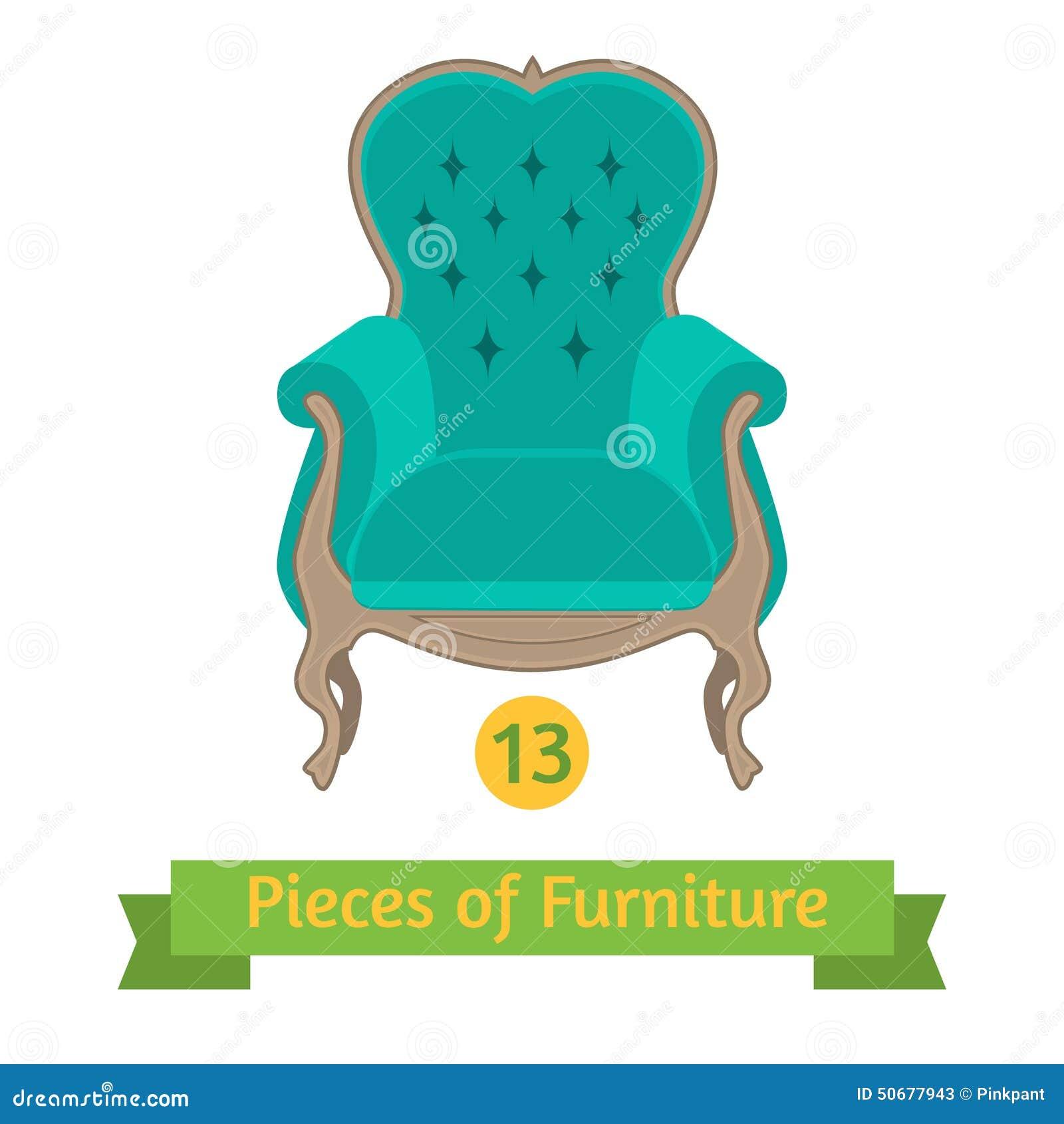 Download 家具,巴洛克式古色古香的椅子,平的设计 向量例证. 插画 包括有 装饰, 背包, 平面, 金黄, 法国, 动画片 - 50677943