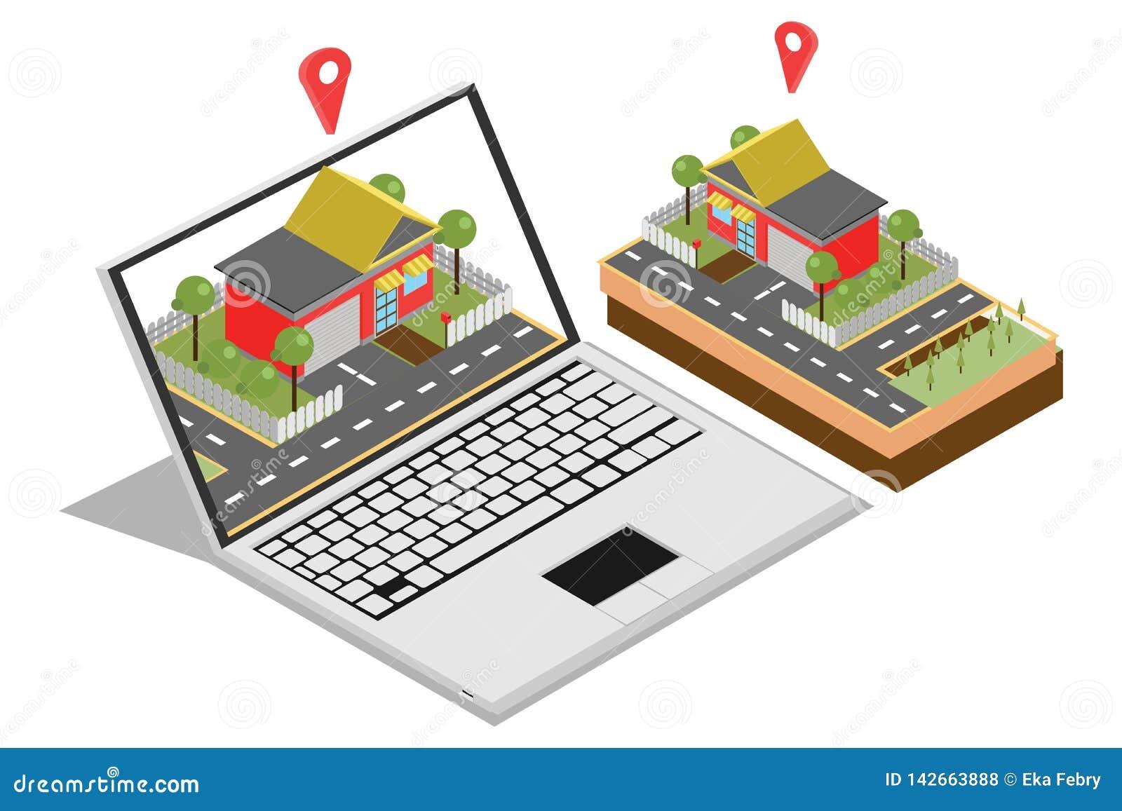 家庭销售的概念的例证与等量,适用于的图、Infographics、书图解,比赛财产和在地平线上方