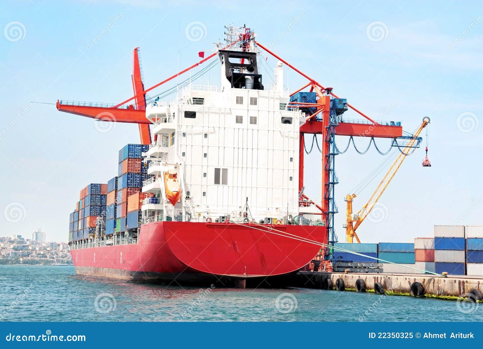 容器红色船