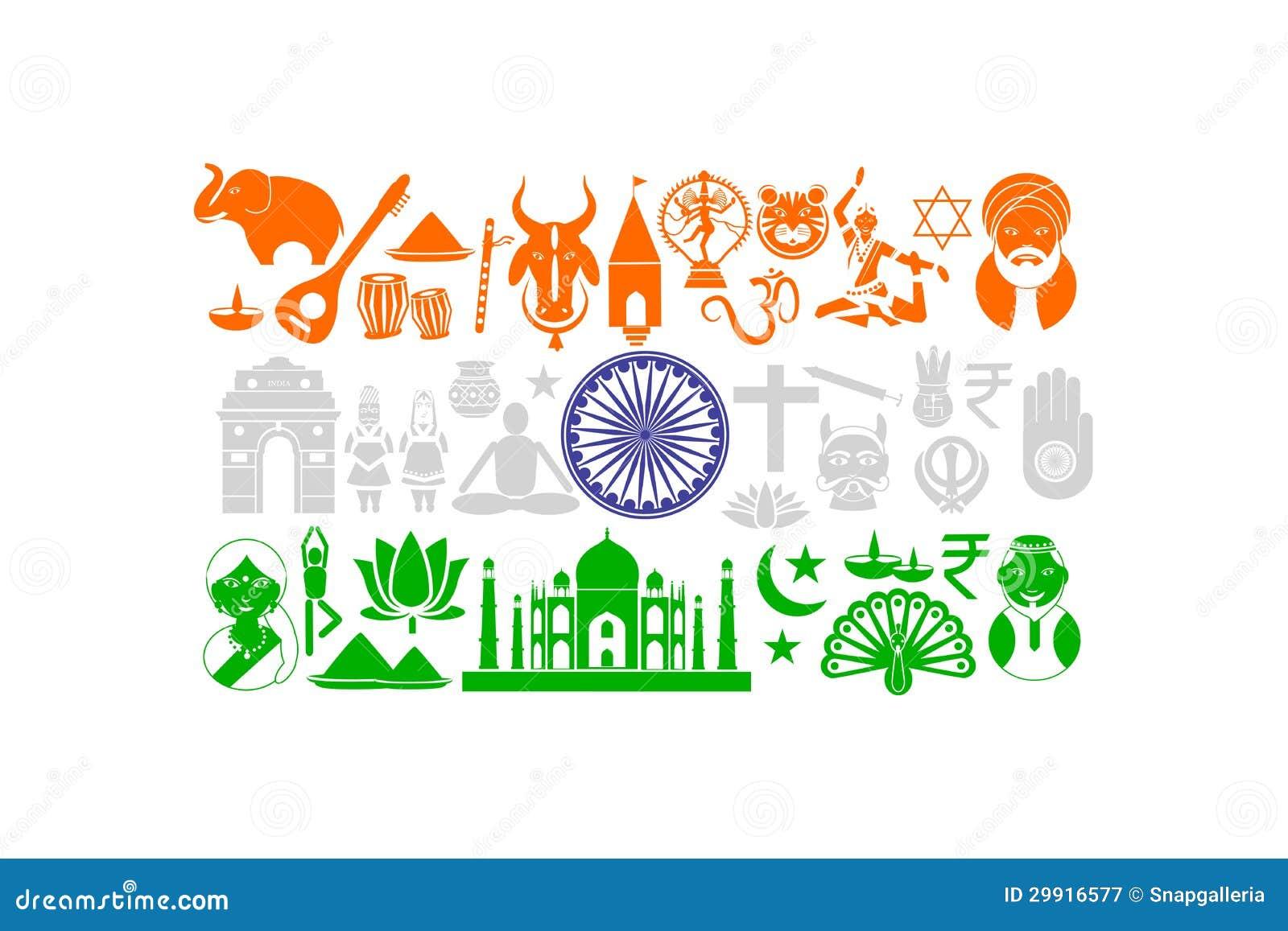 与文化对象的印第安旗子