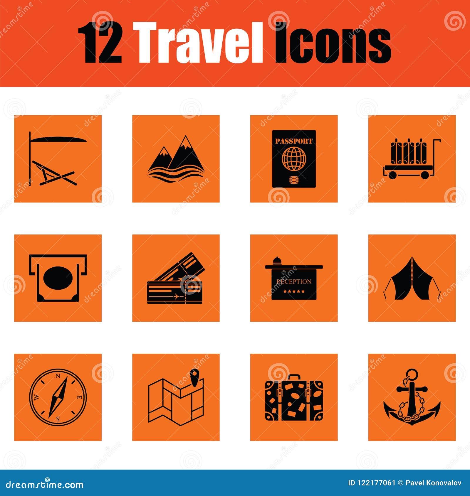 容易编辑图标映象集旅行向量