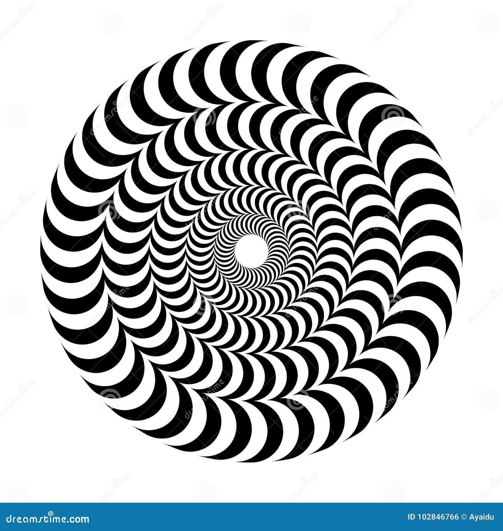 容量错觉  圆的传染媒介隔绝了在白色背景的黑白样式