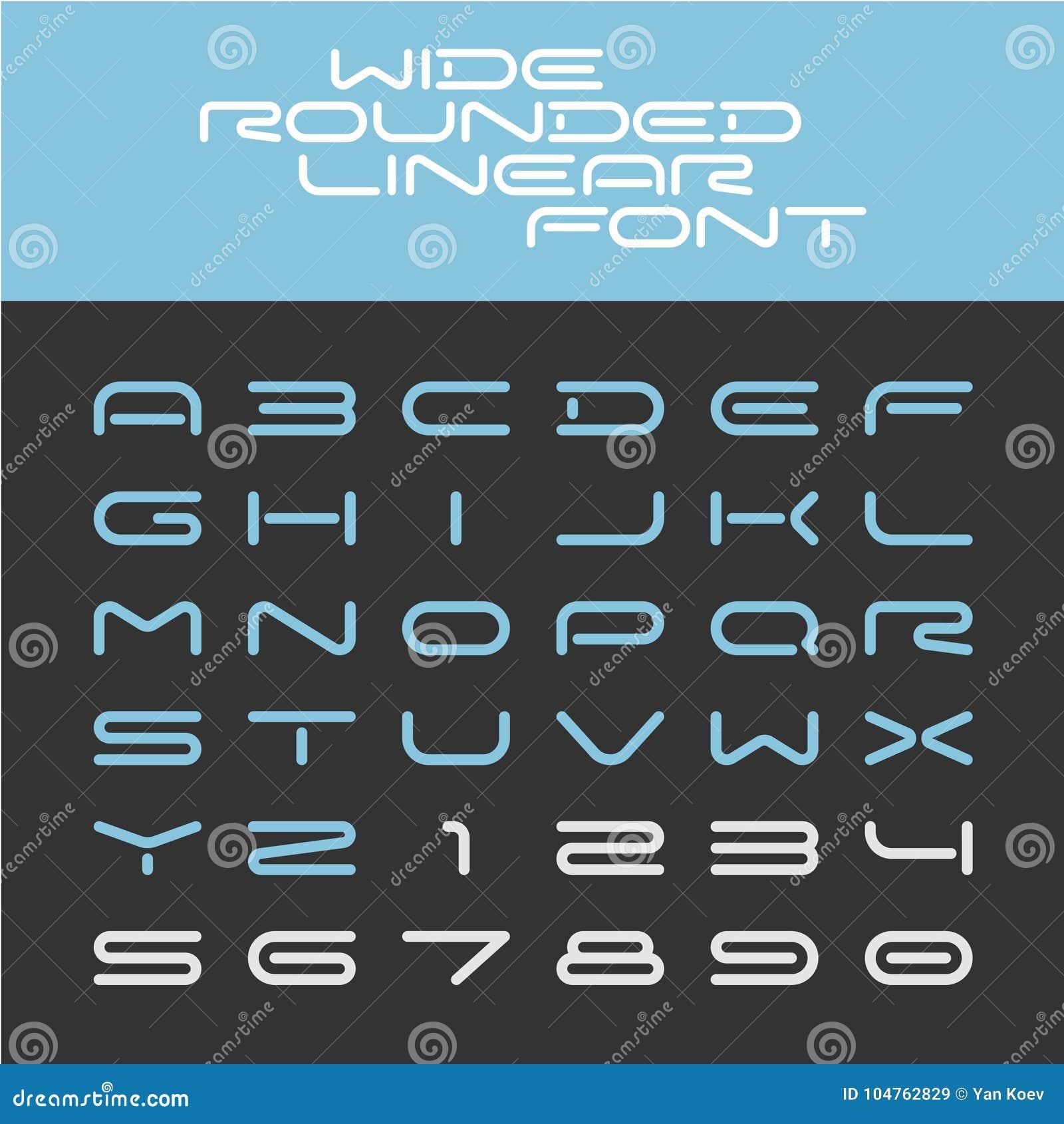 宽被环绕的概述体育techno字体