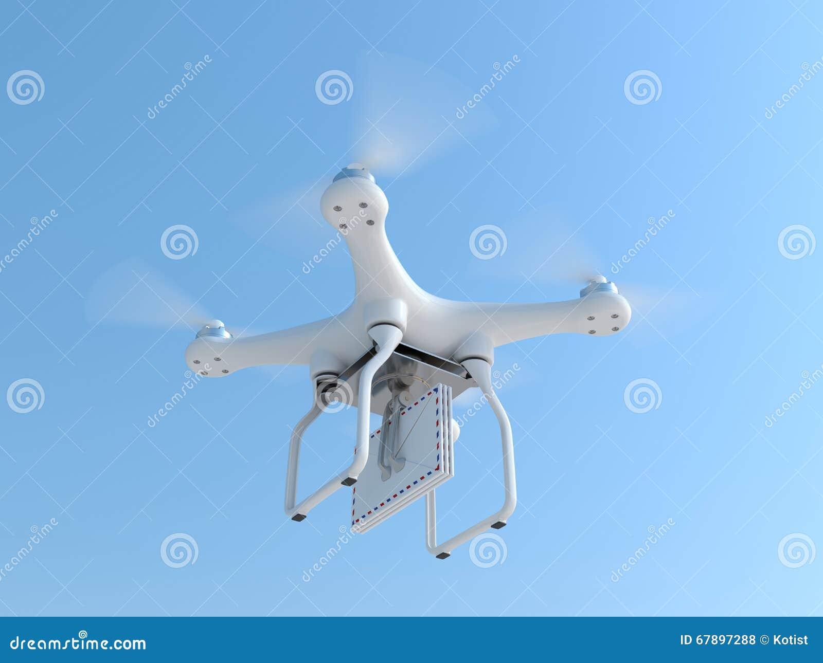 寄生虫quadcopter运载的邮件信封