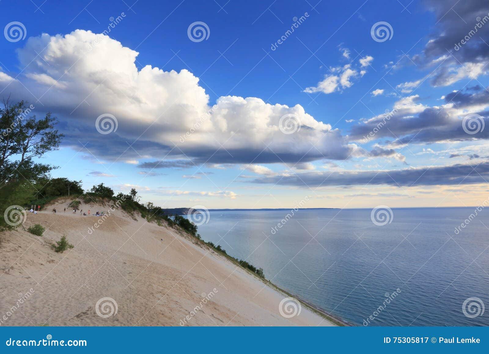 密执安湖俯视