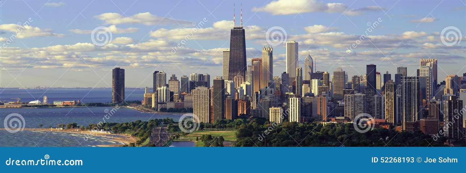 和�9�e����il�`f��,_密歇根湖和林肯公园,芝加哥, il全景.