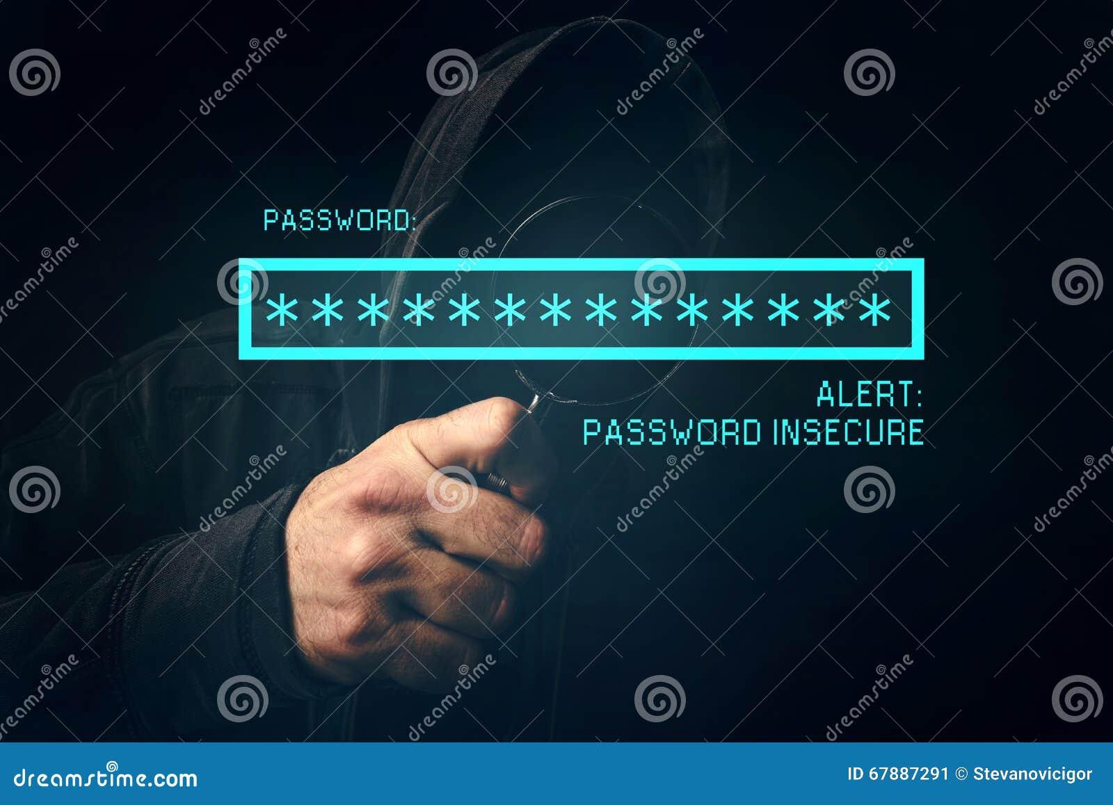 密码不安全机敏,无法认出计算机黑客窃取
