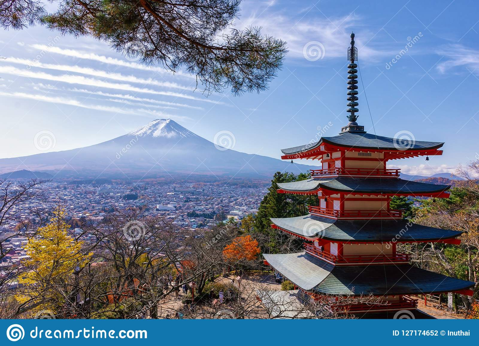 富士山和Chureito塔