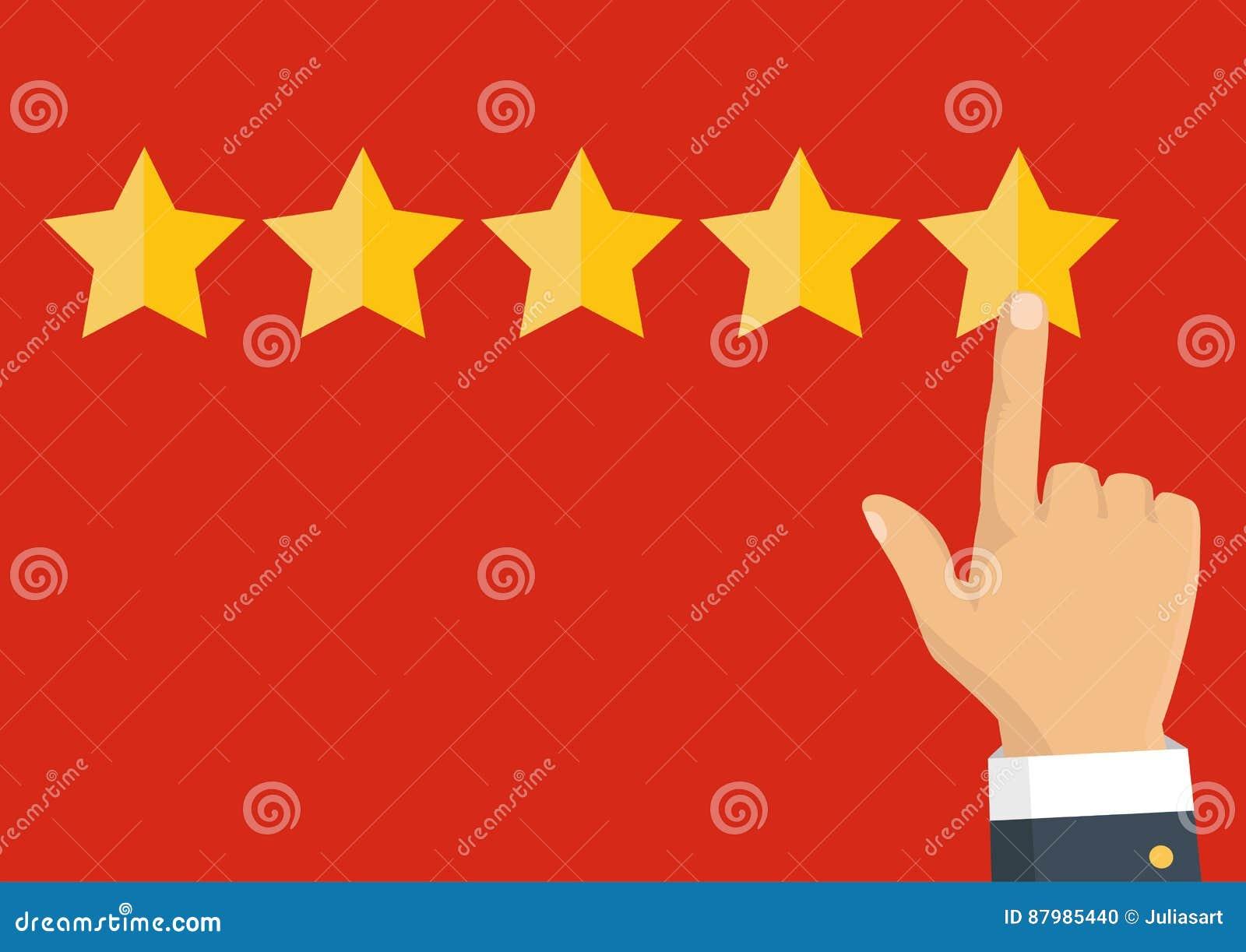 对估计的金黄星 反馈、名誉和质量概念