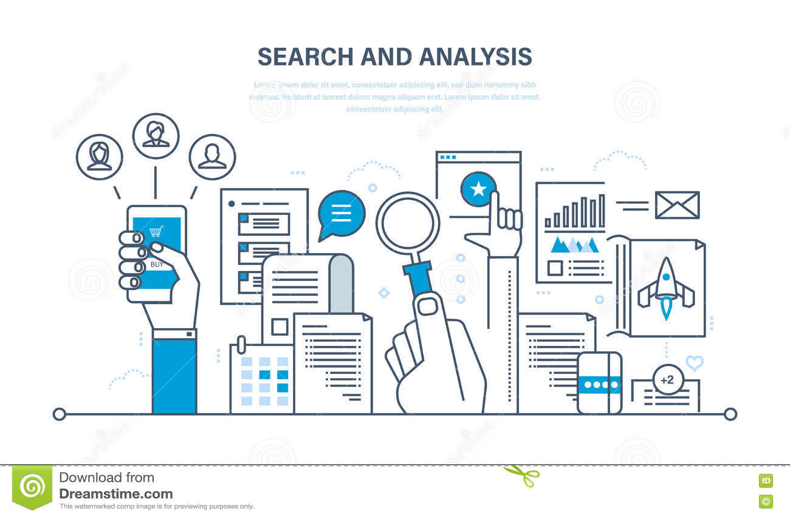 对信息,通信,服务,市场研究的查寻和分析
