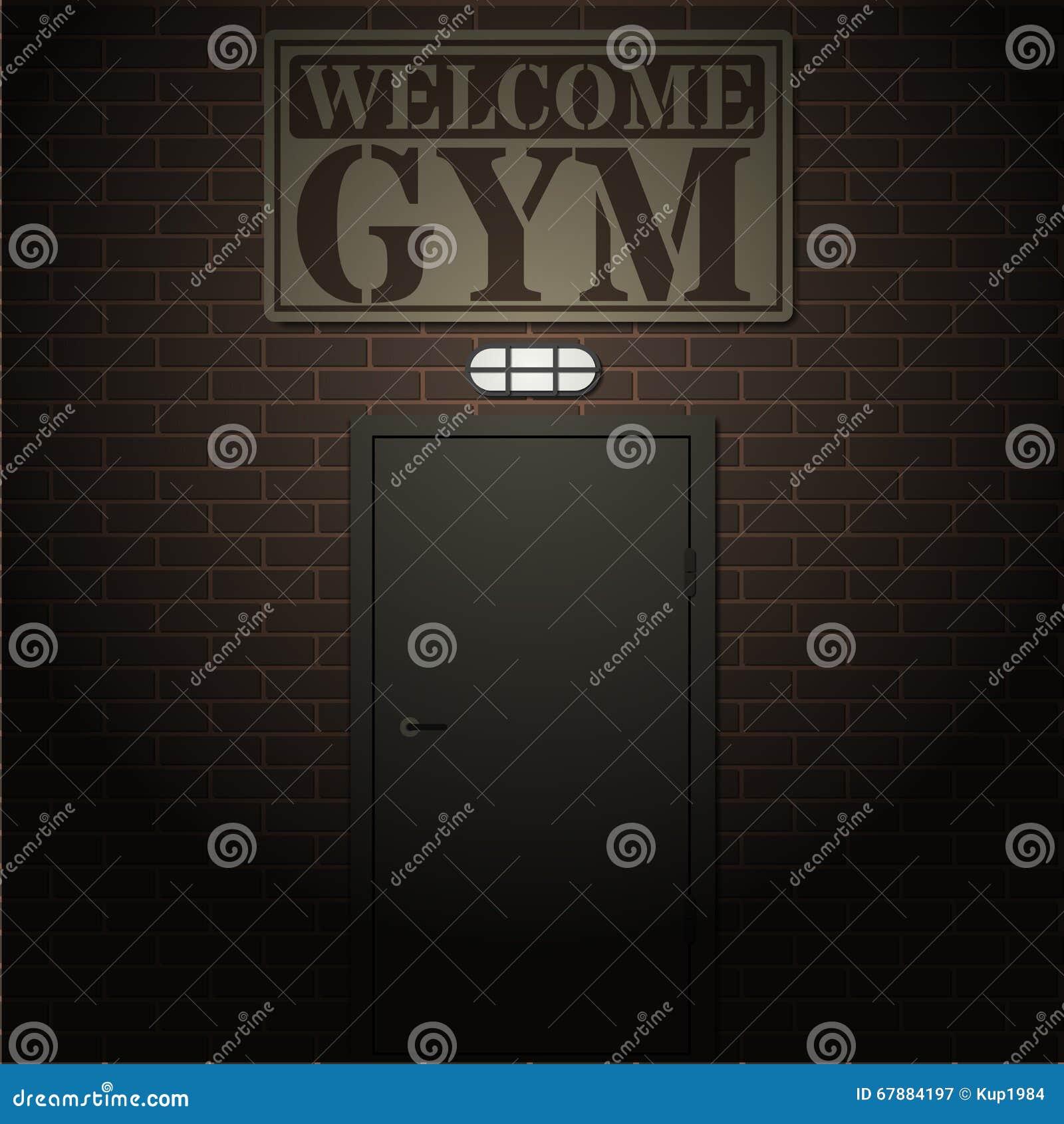 对健身房的入口