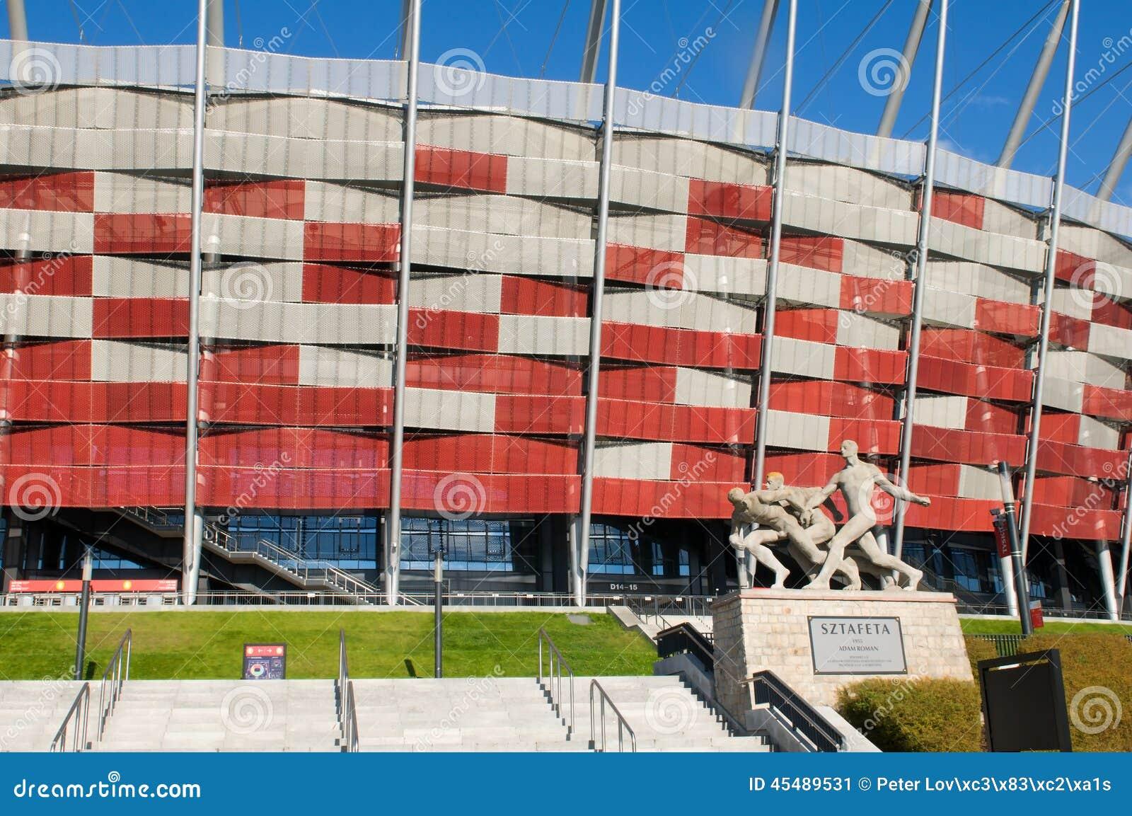 对全国体育场的入口在华沙,波兰