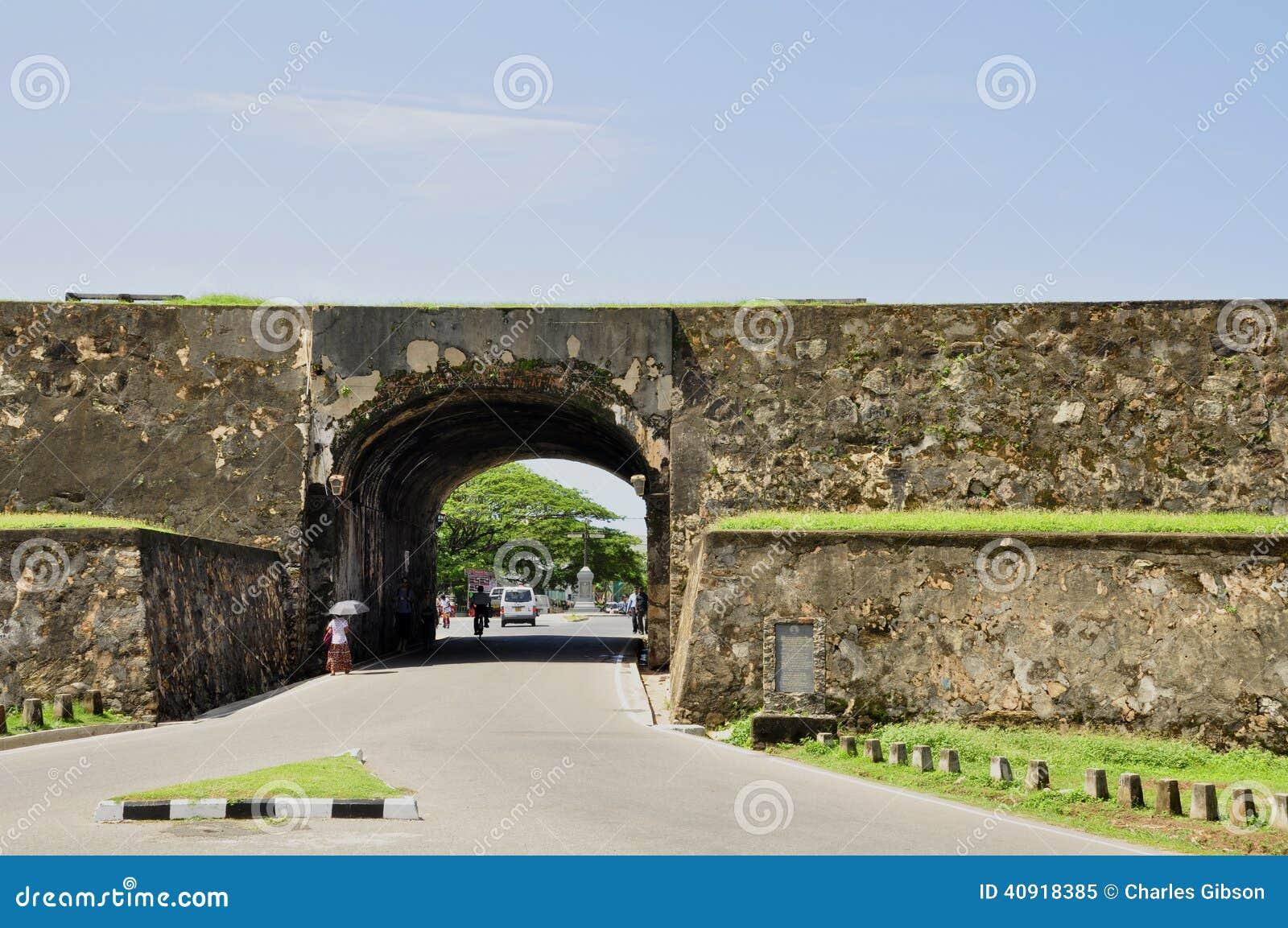 对加勒堡垒的入口