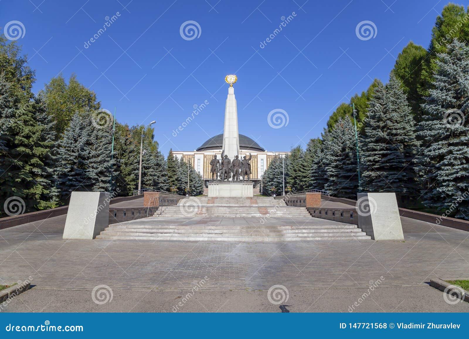 对反希特勒联合国家,胡同党羽的纪念碑在Poklonnaya小山的,莫斯科,俄罗斯胜利公园