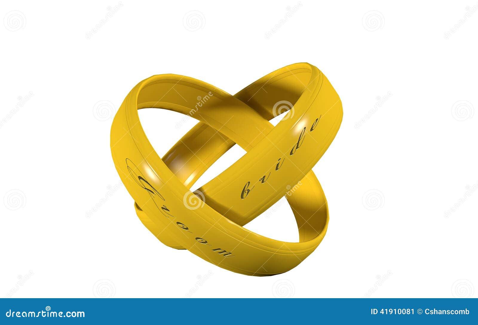 对在金子的婚戒