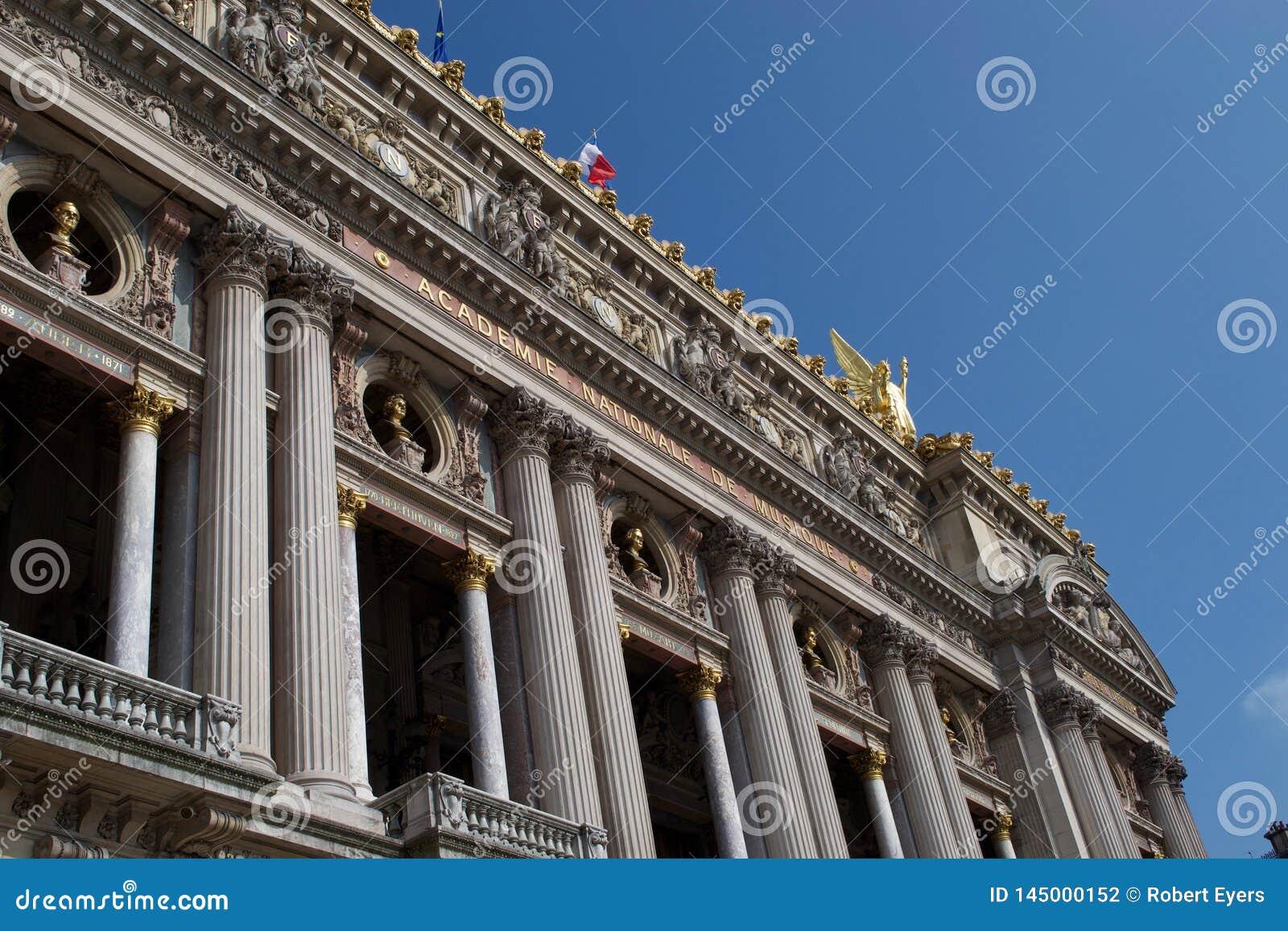 对巴黎歌剧院- Academie Nationale De Muisque -巴黎歌剧法国的入口
