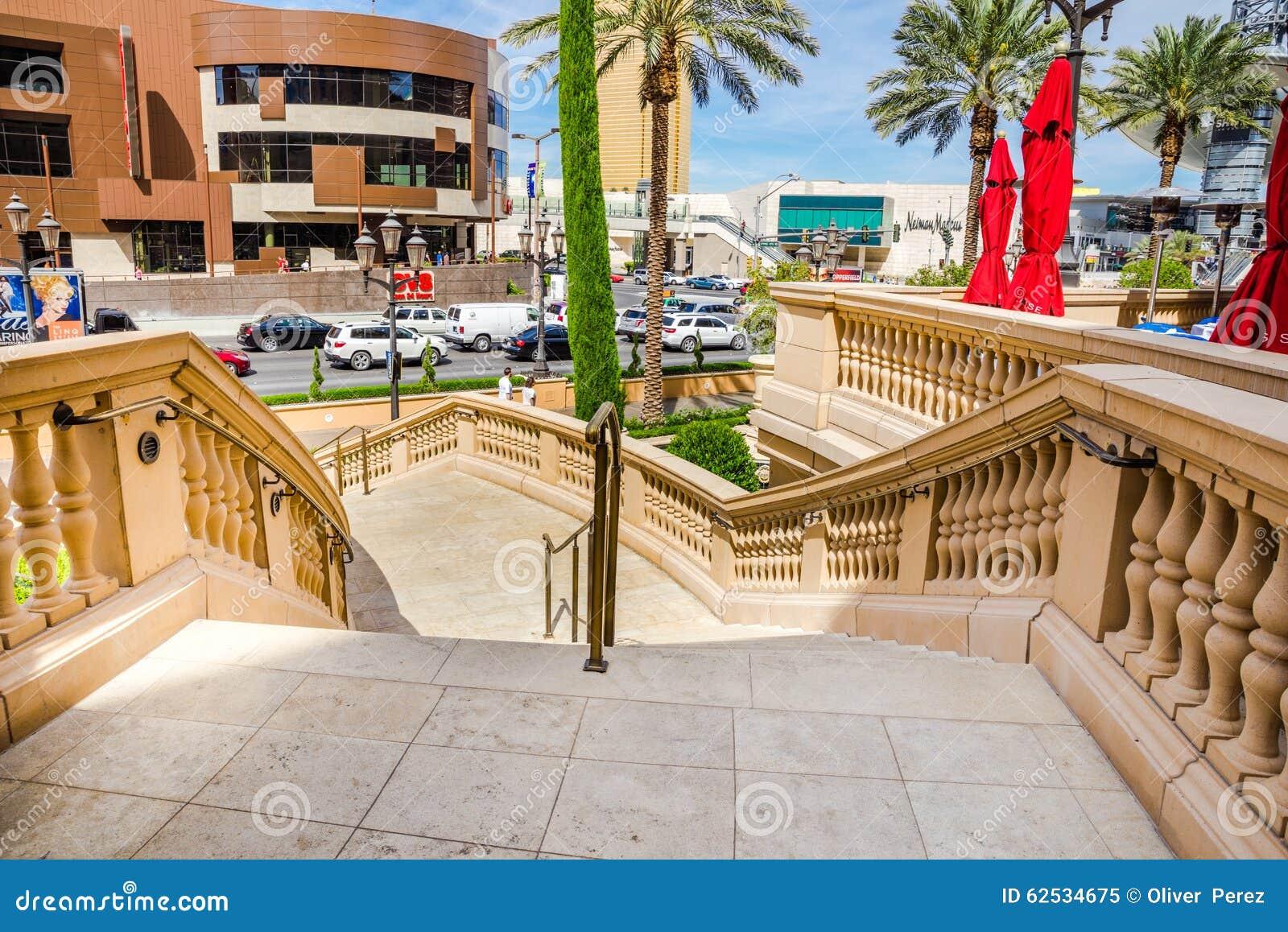 对拉斯维加斯大道的楼梯