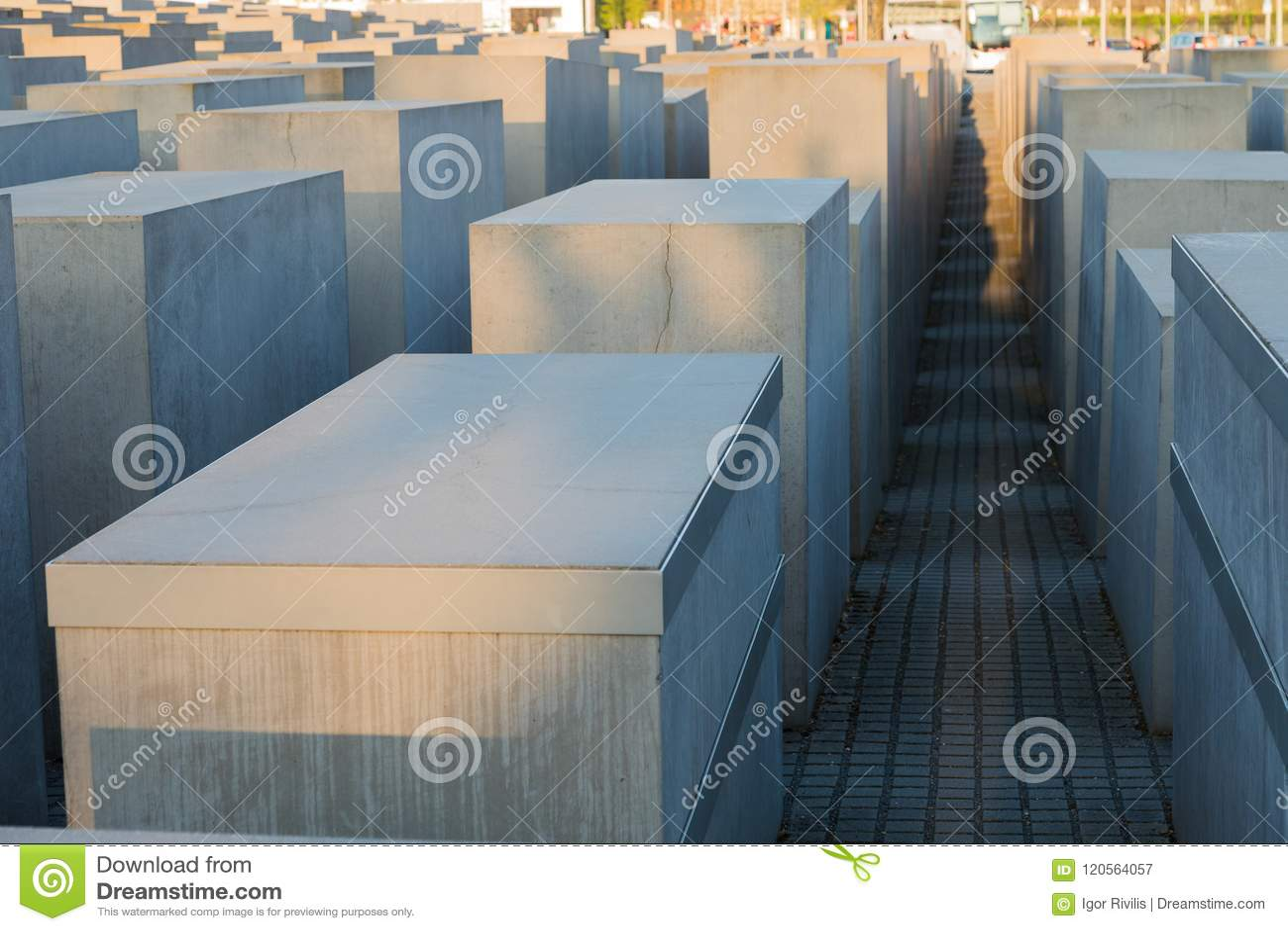 对欧洲,柏林的被谋杀的犹太人的纪念品