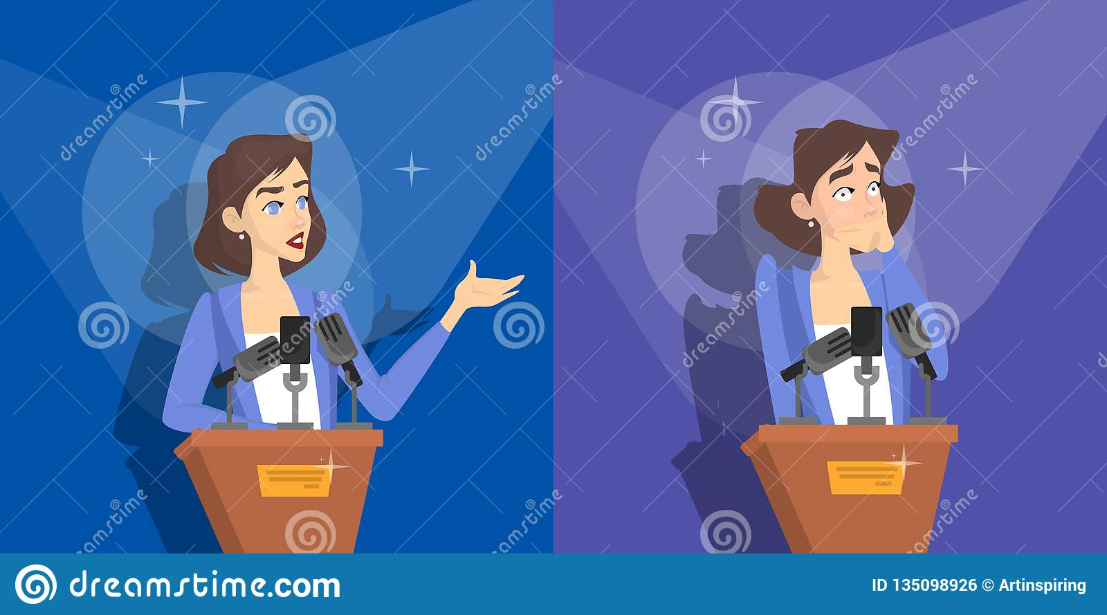 对演说的恐惧 妇女害怕