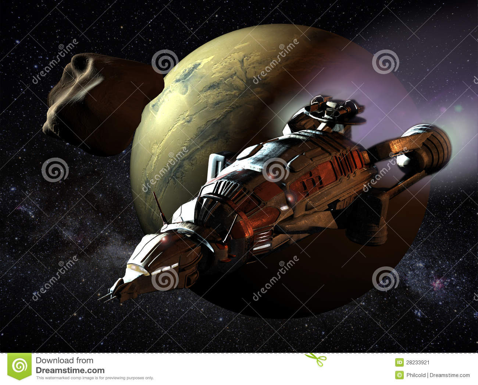 对火星的太空飞船