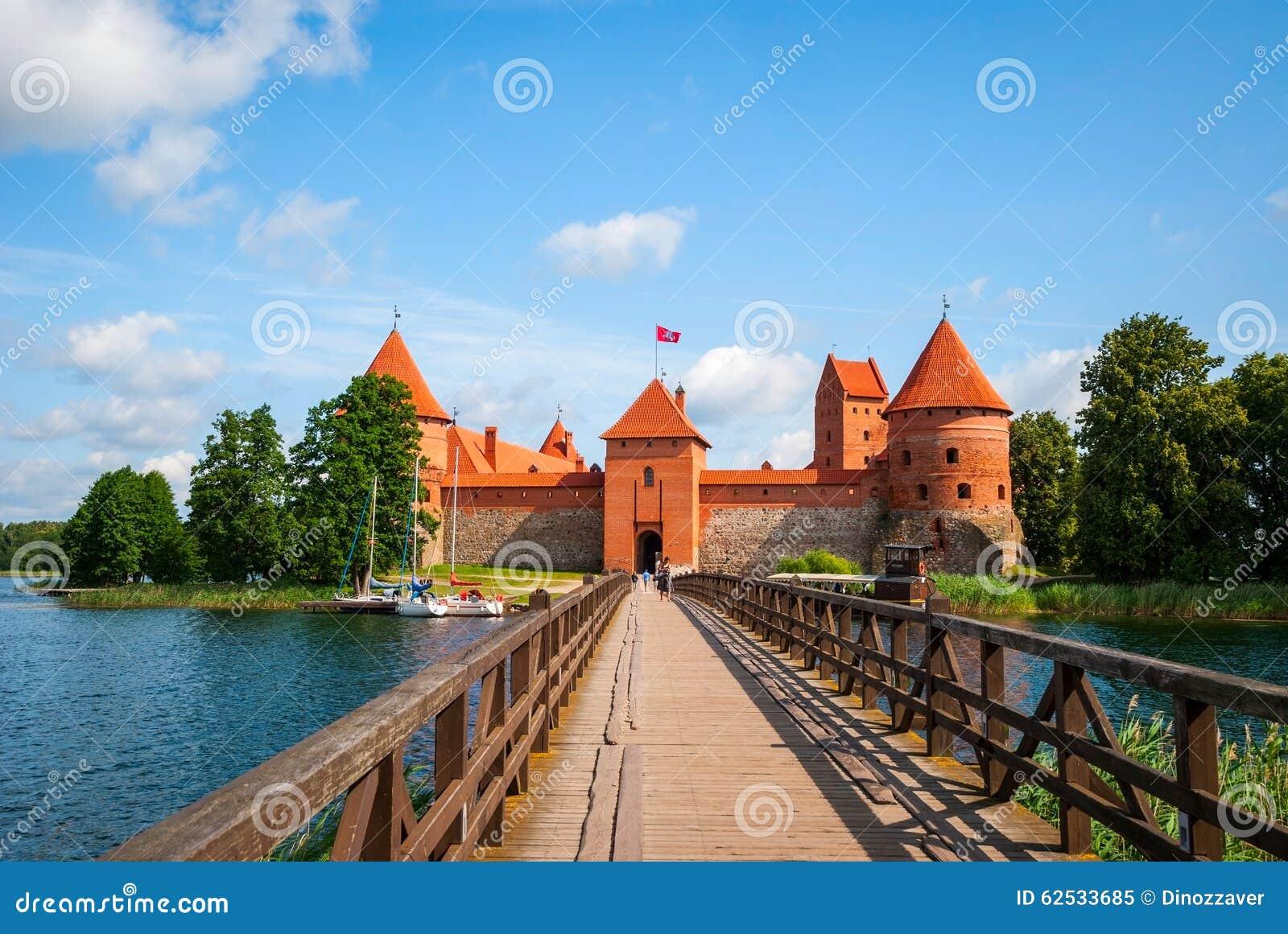对特拉凯城堡,立陶宛的桥梁