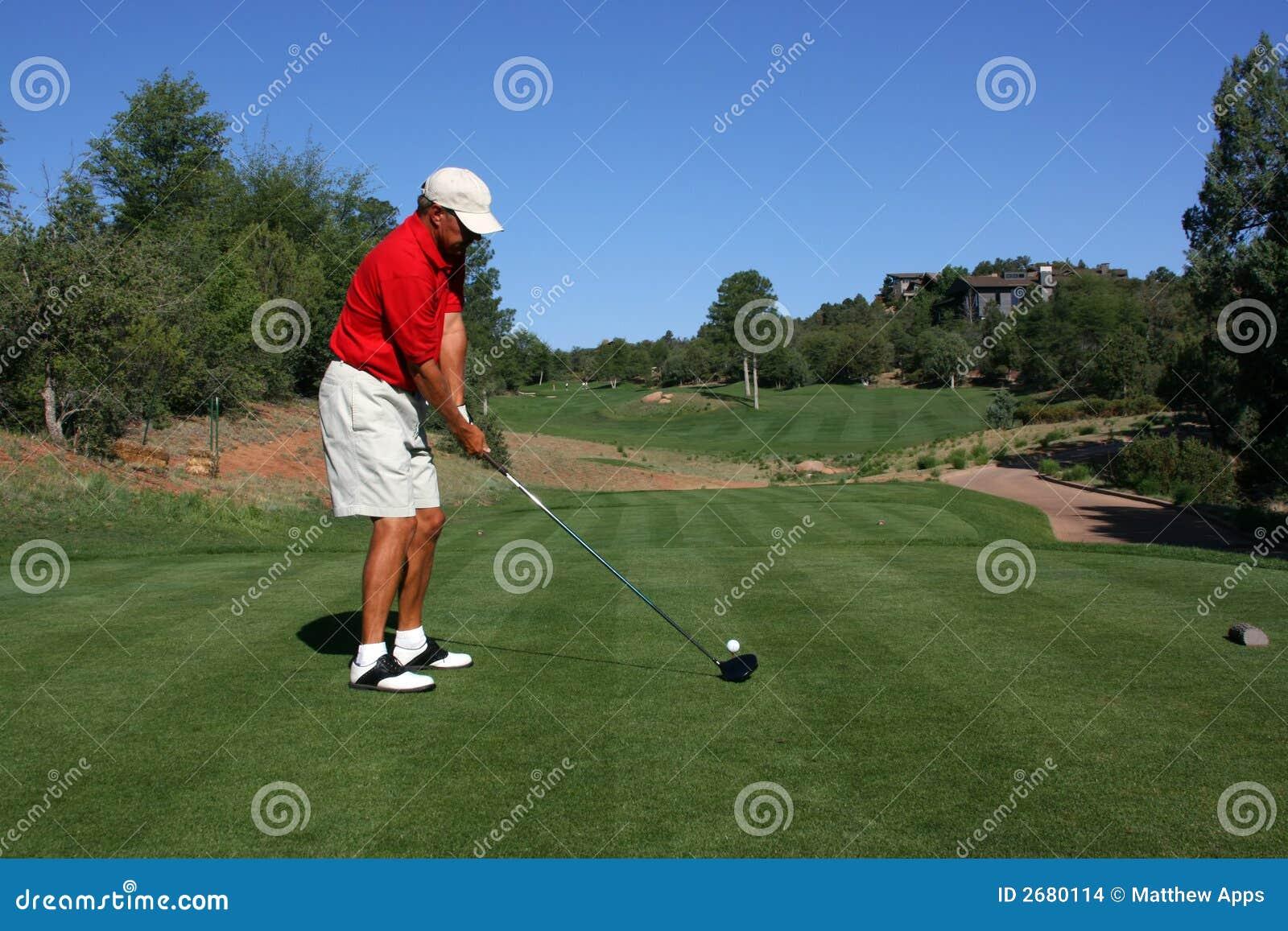 对球高尔夫球运动员演讲