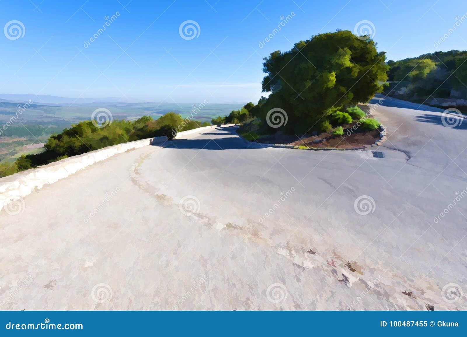 对登上塔博尔的沥青