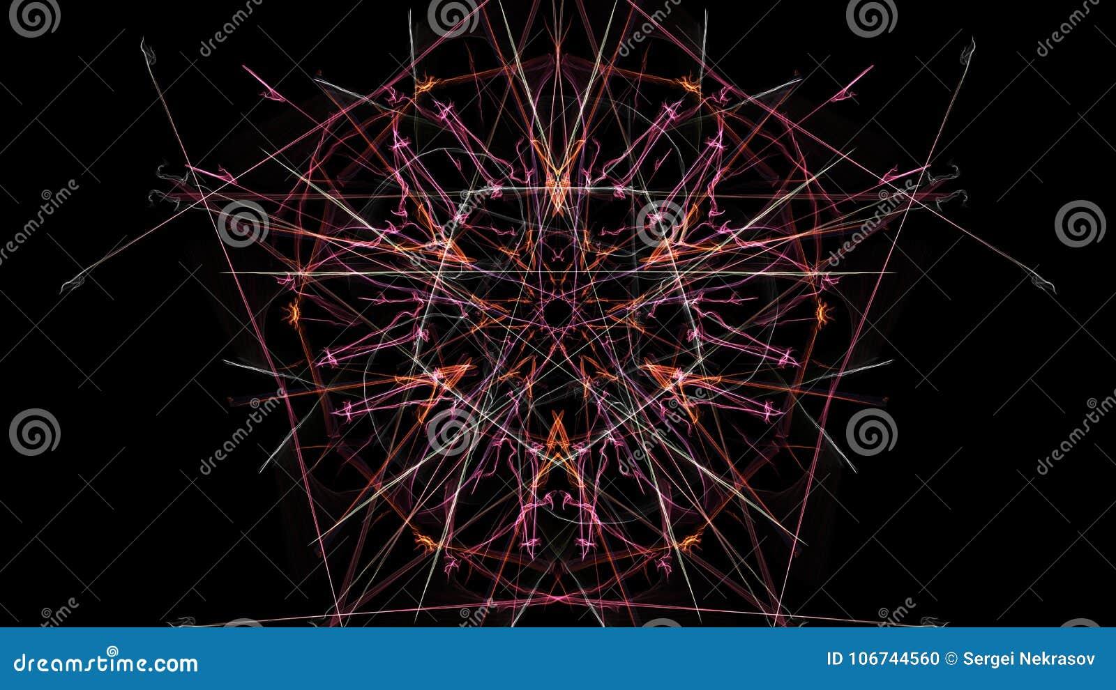 对称和五颜六色的设计 数字式图表