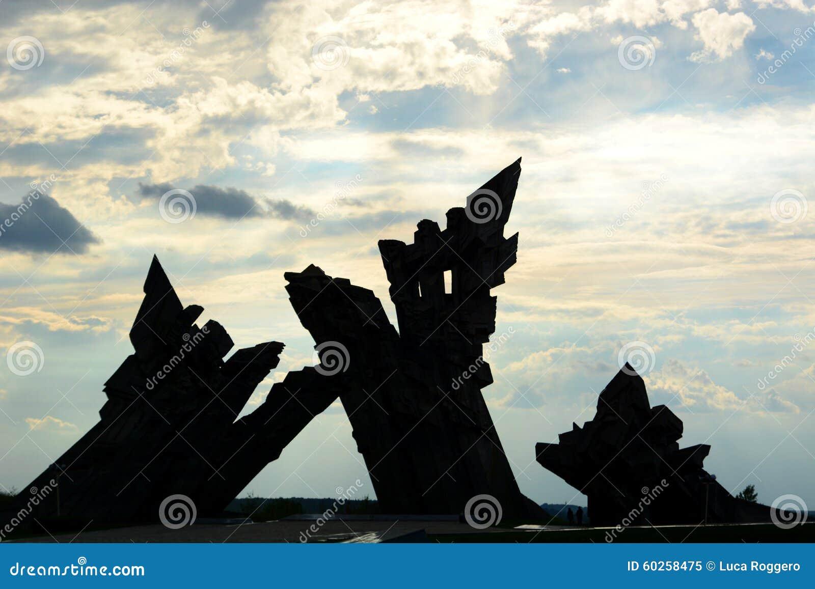对纳粹主义的受害者的纪念品 第九个堡垒 考纳斯 立陶宛