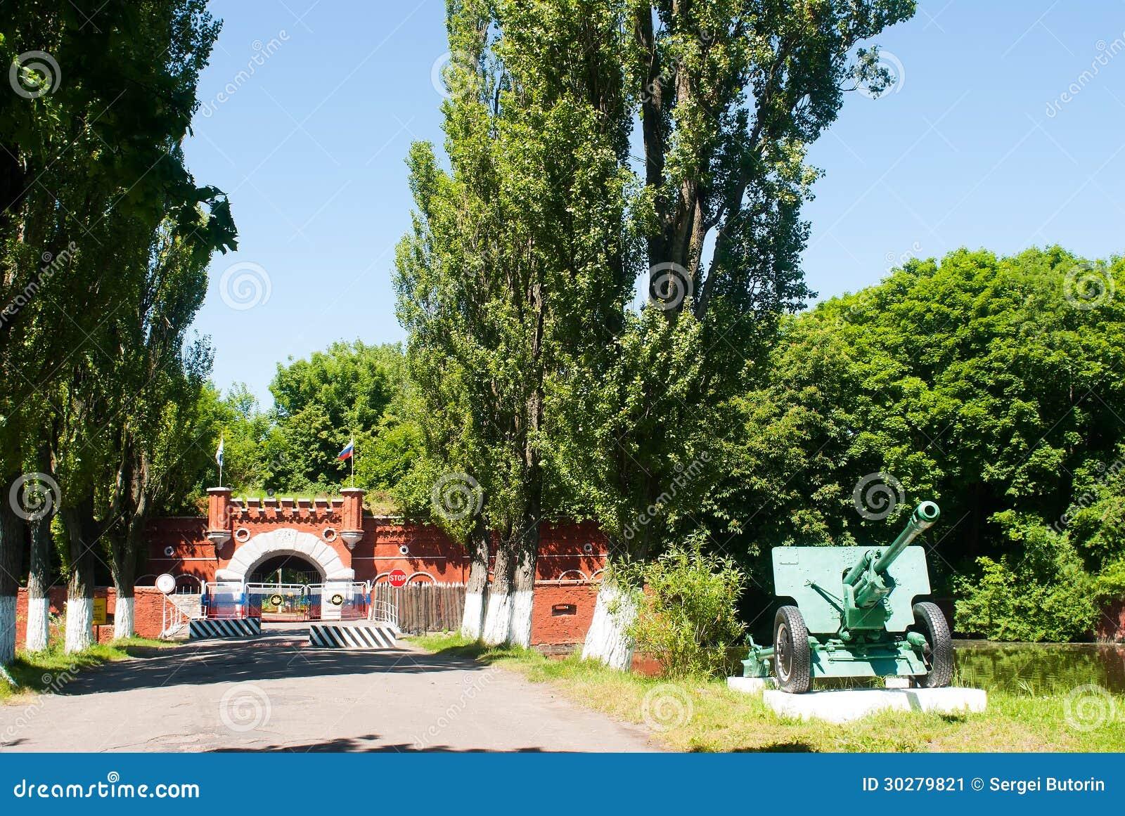 对老星堡垒的主闸baltysk的