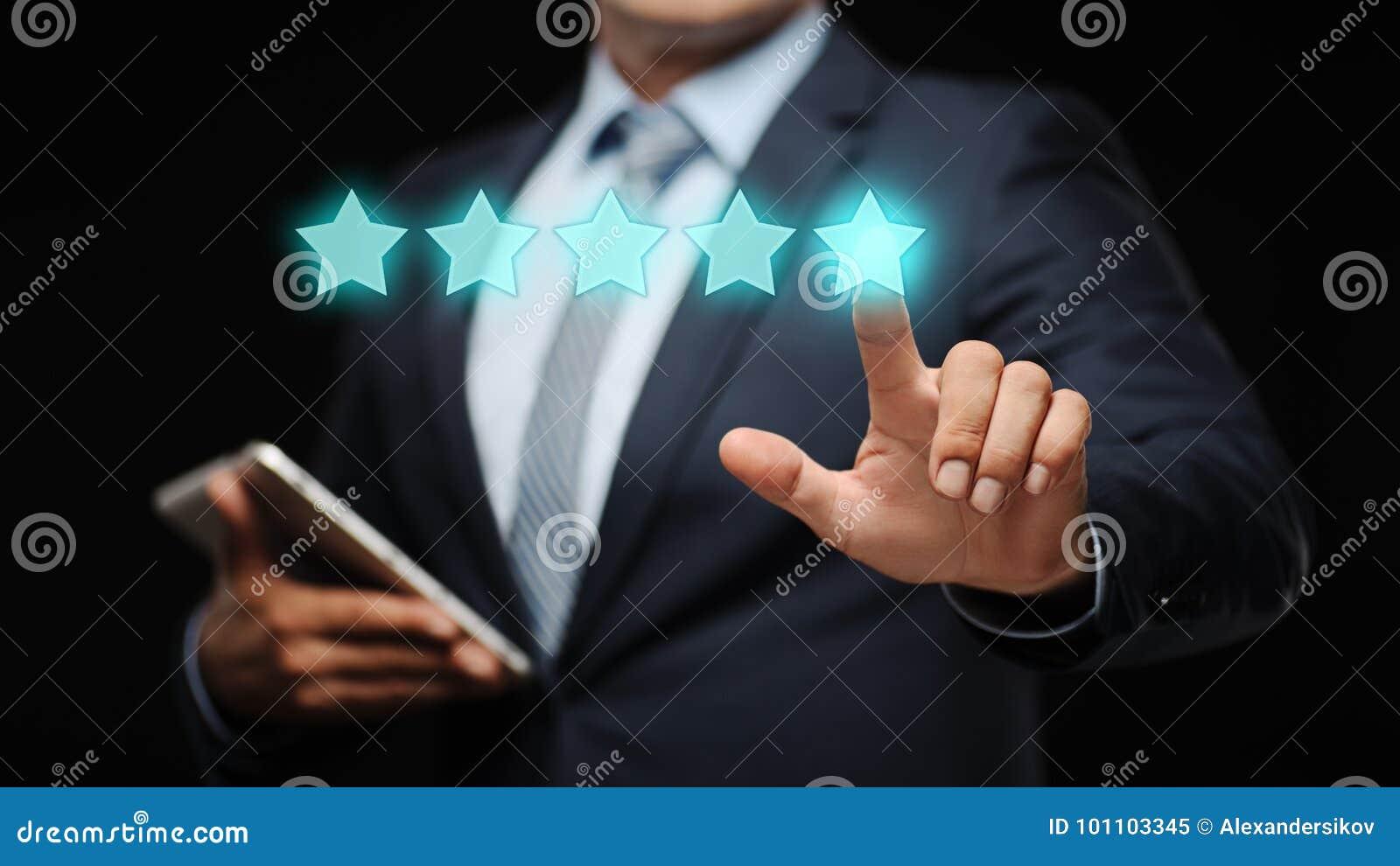 对质量检查最佳的服务业互联网营销概念估计的5五个星