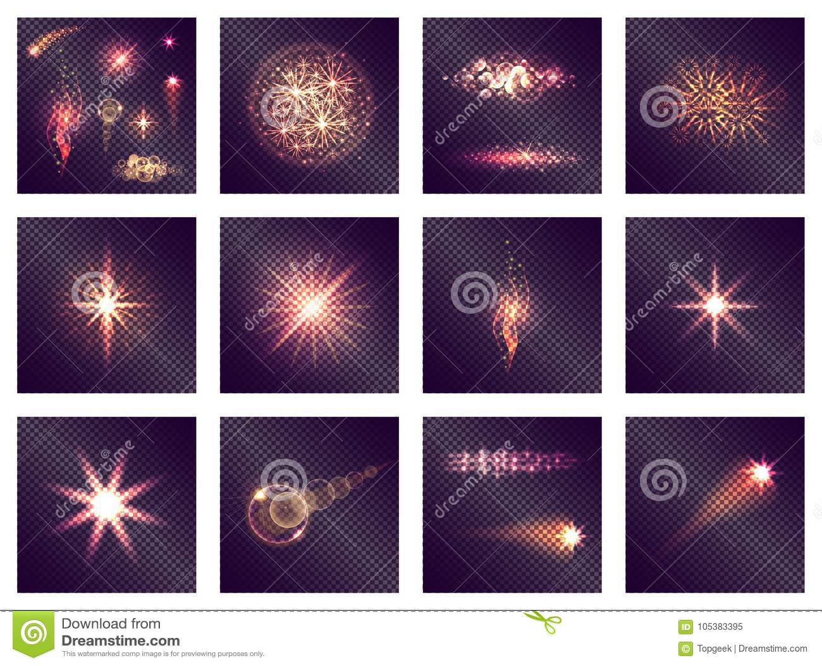 对透明的十二种不同光线影响