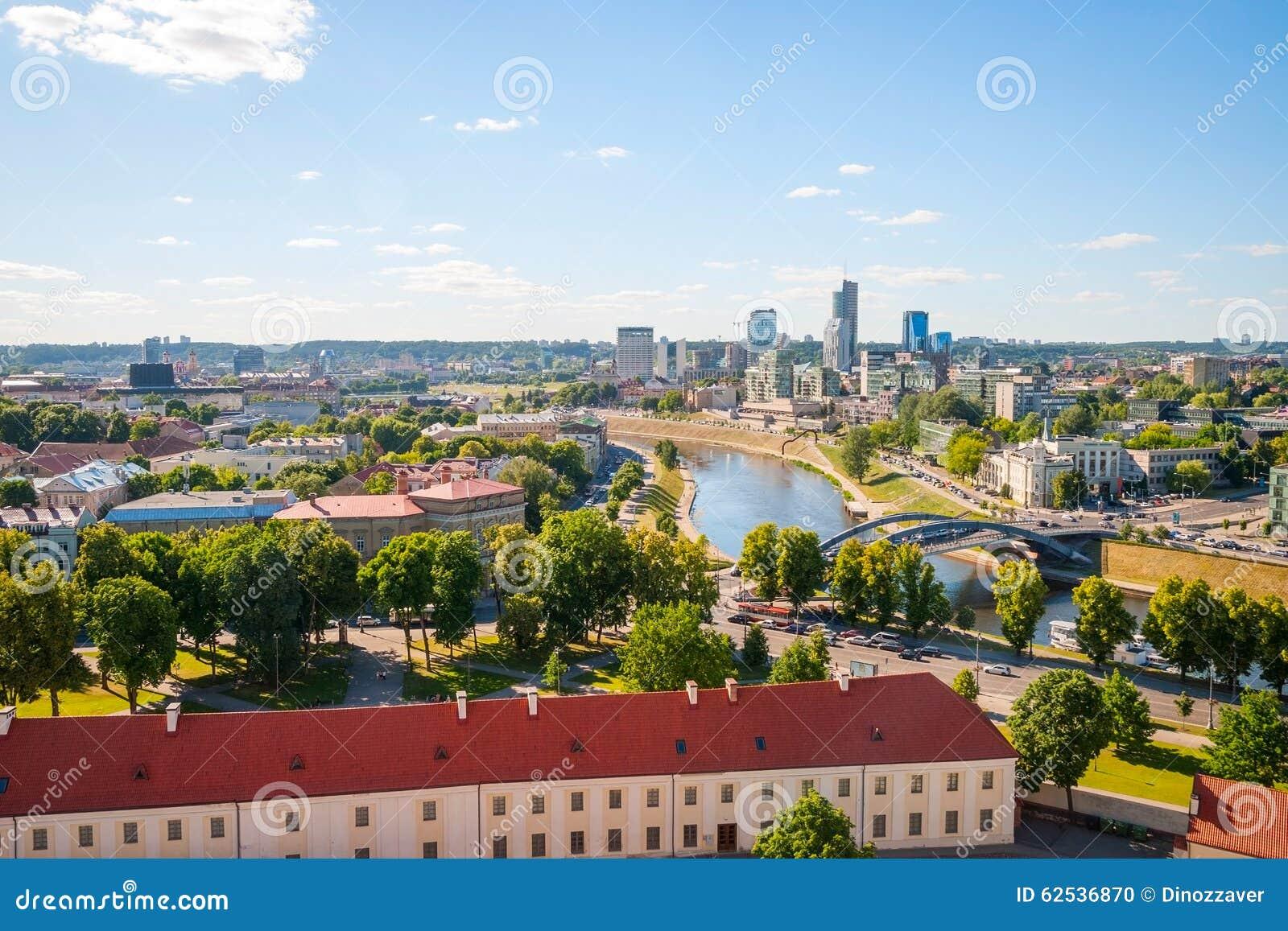 对维尔纽斯,立陶宛的现代部分的看法
