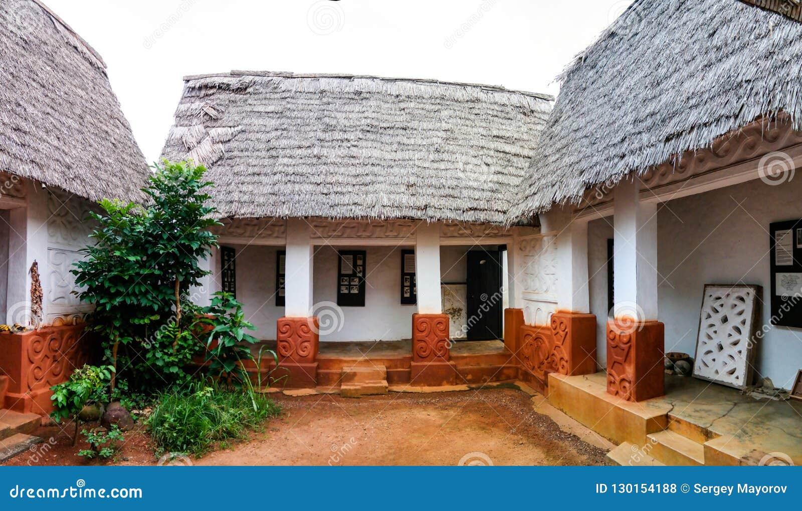 对Besease传统Asante寺庙的看法在, Ejisu,库马西,加纳