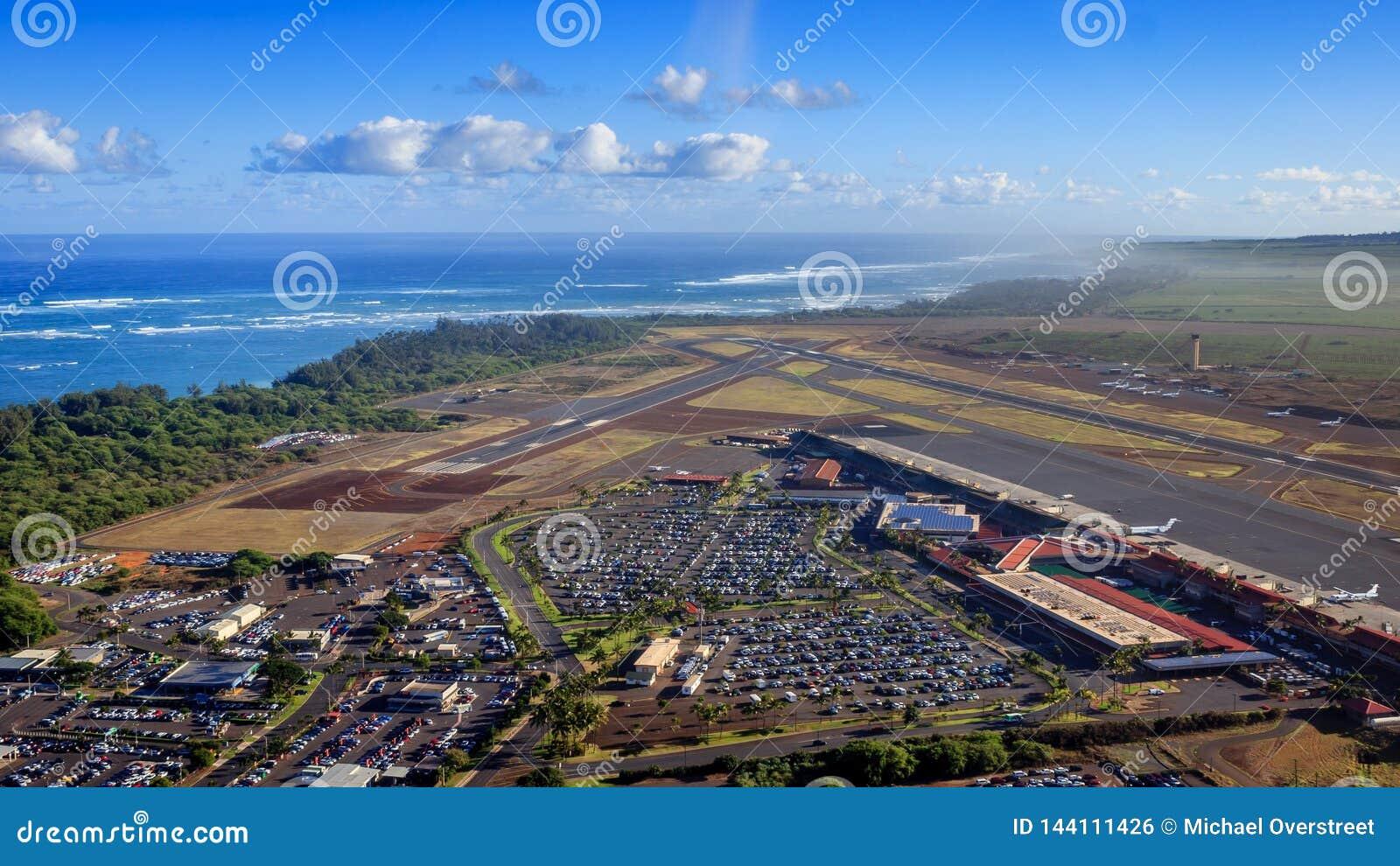对Kahului机场的直升机方法