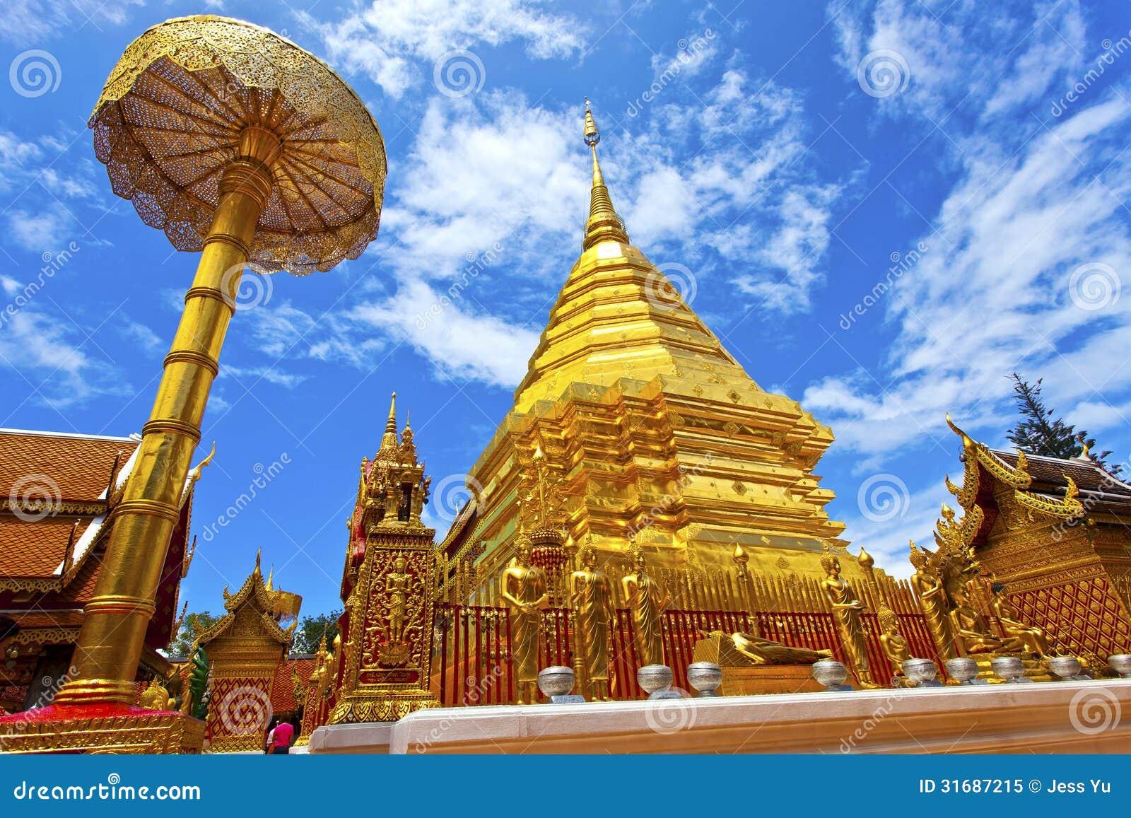 去泰国免筺(_寺庙在清迈,泰国. 免版税库存照片 - 图片: 31687215
