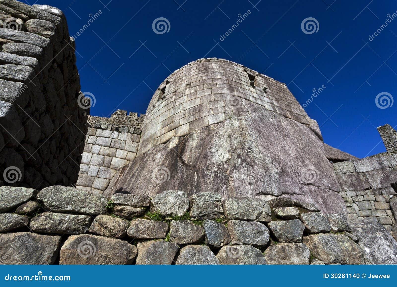 太阳的Machu Picchu,秘鲁的寺庙